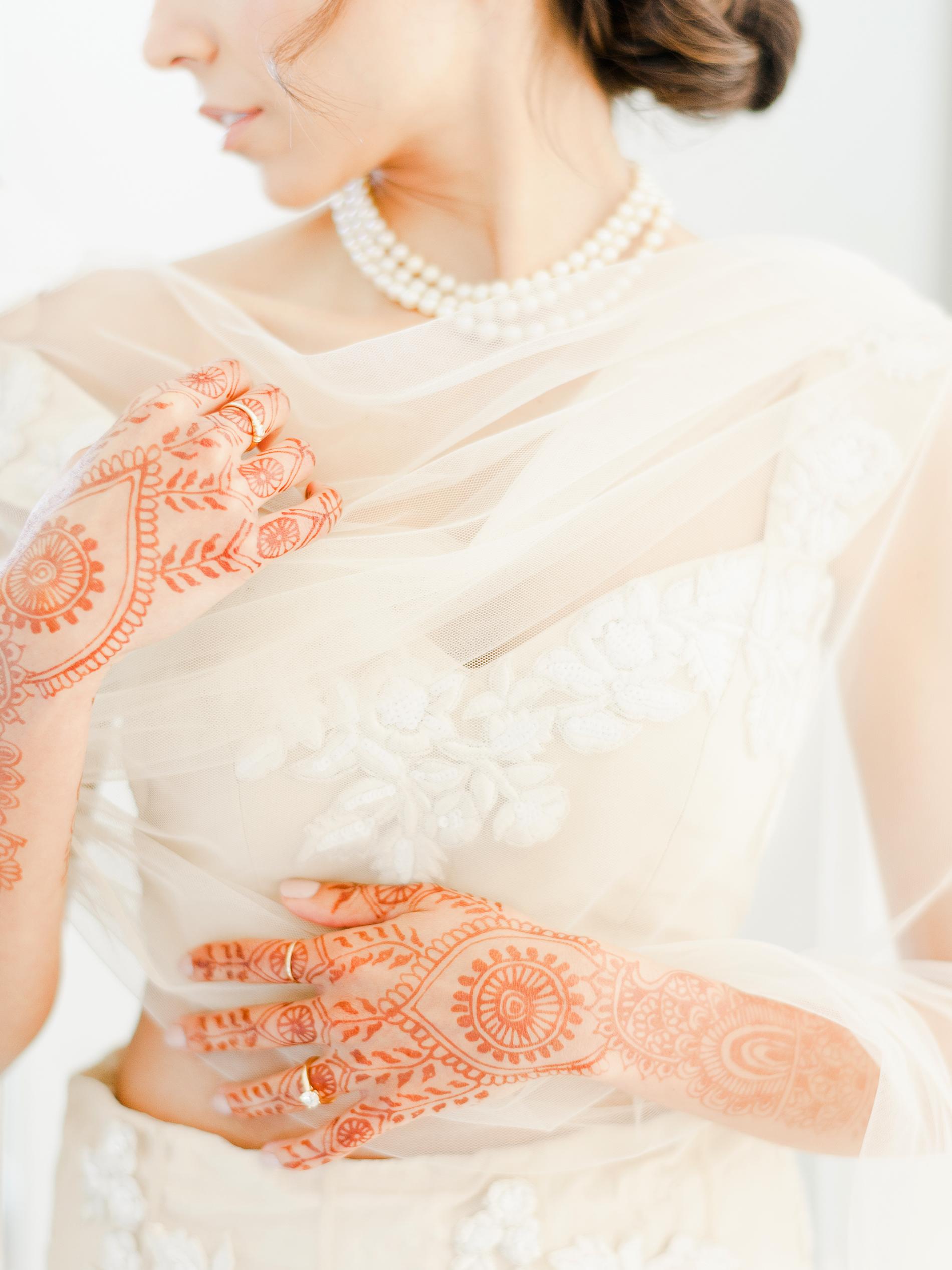 anuja nikhil wedding bride henna