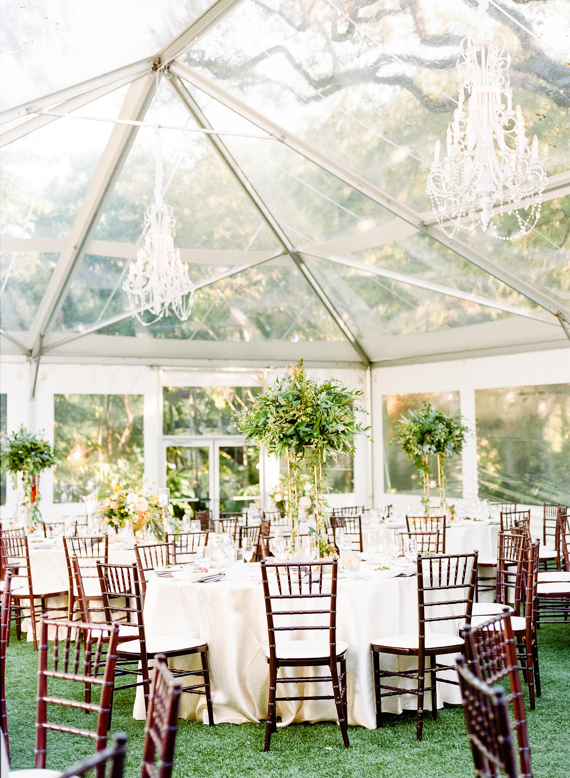 anuja nikhil wedding reception clear tent