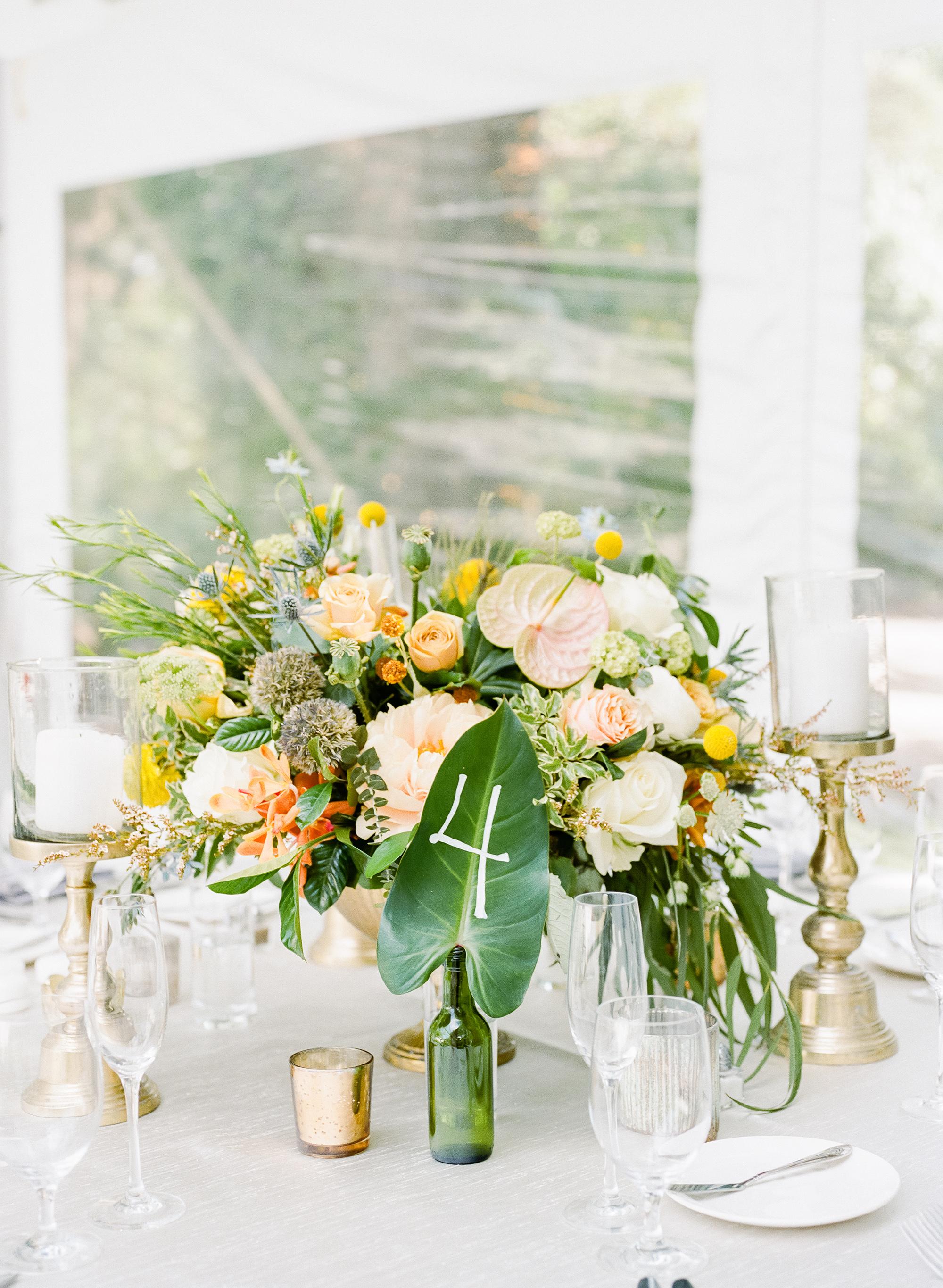 anuja nikhil wedding colorful centerpiece