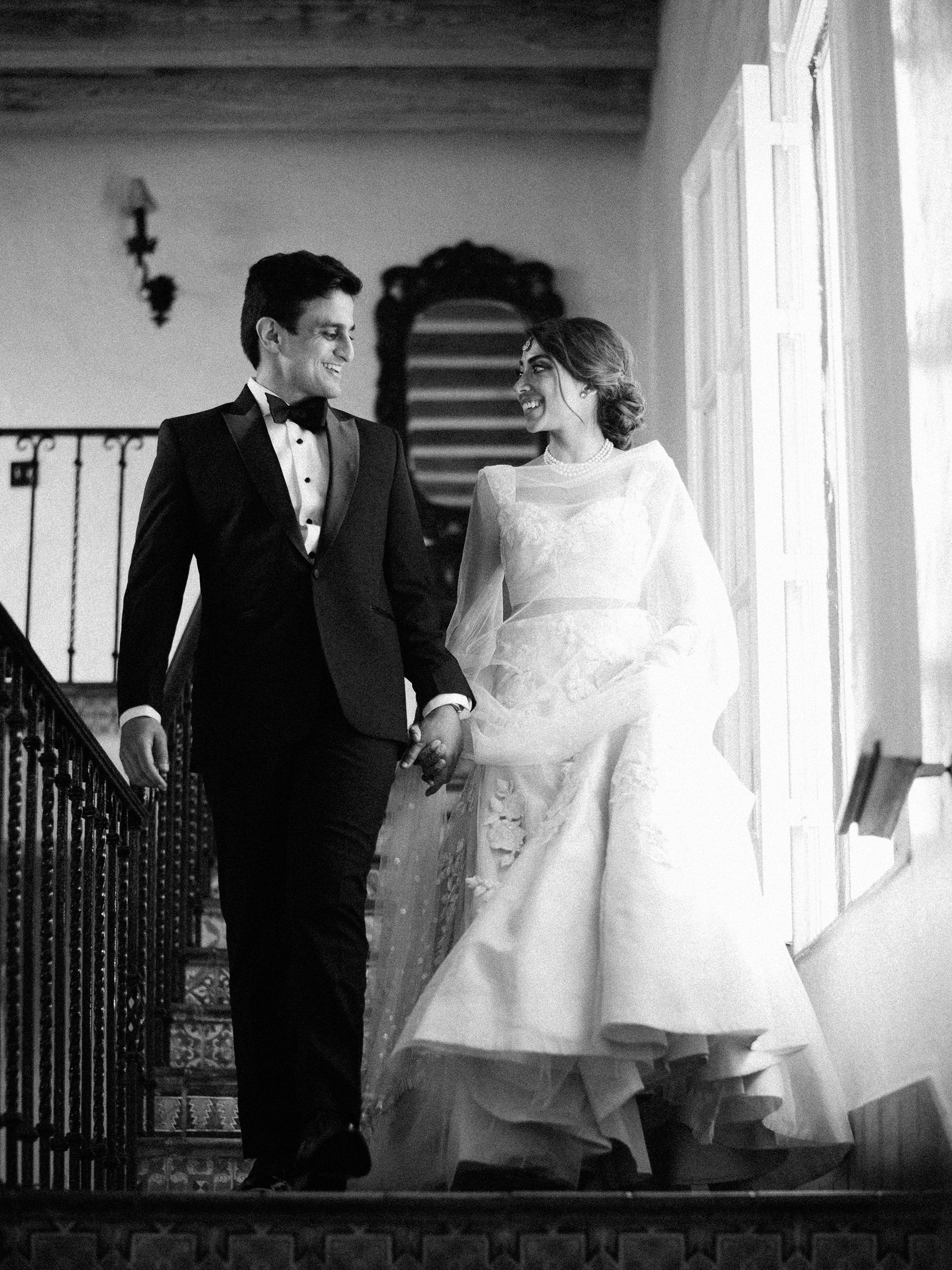 anuja nikhil wedding ceremony couple reception entrance