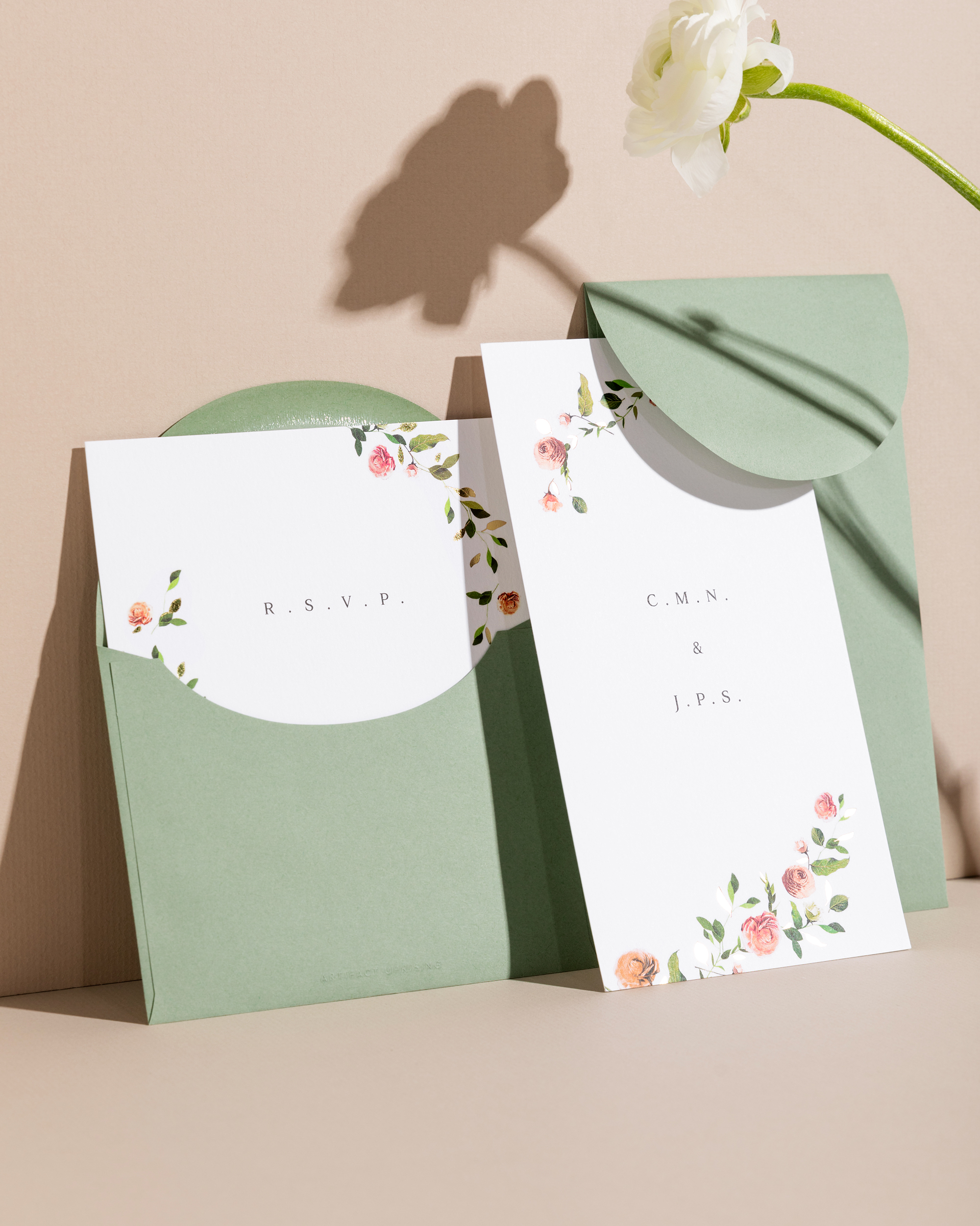 artifact uprising venamour botanical wedding invitation suite