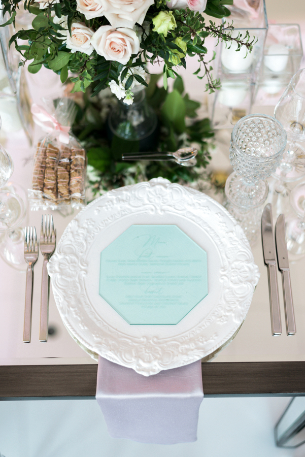 wedding stationery trends acrylic table setting