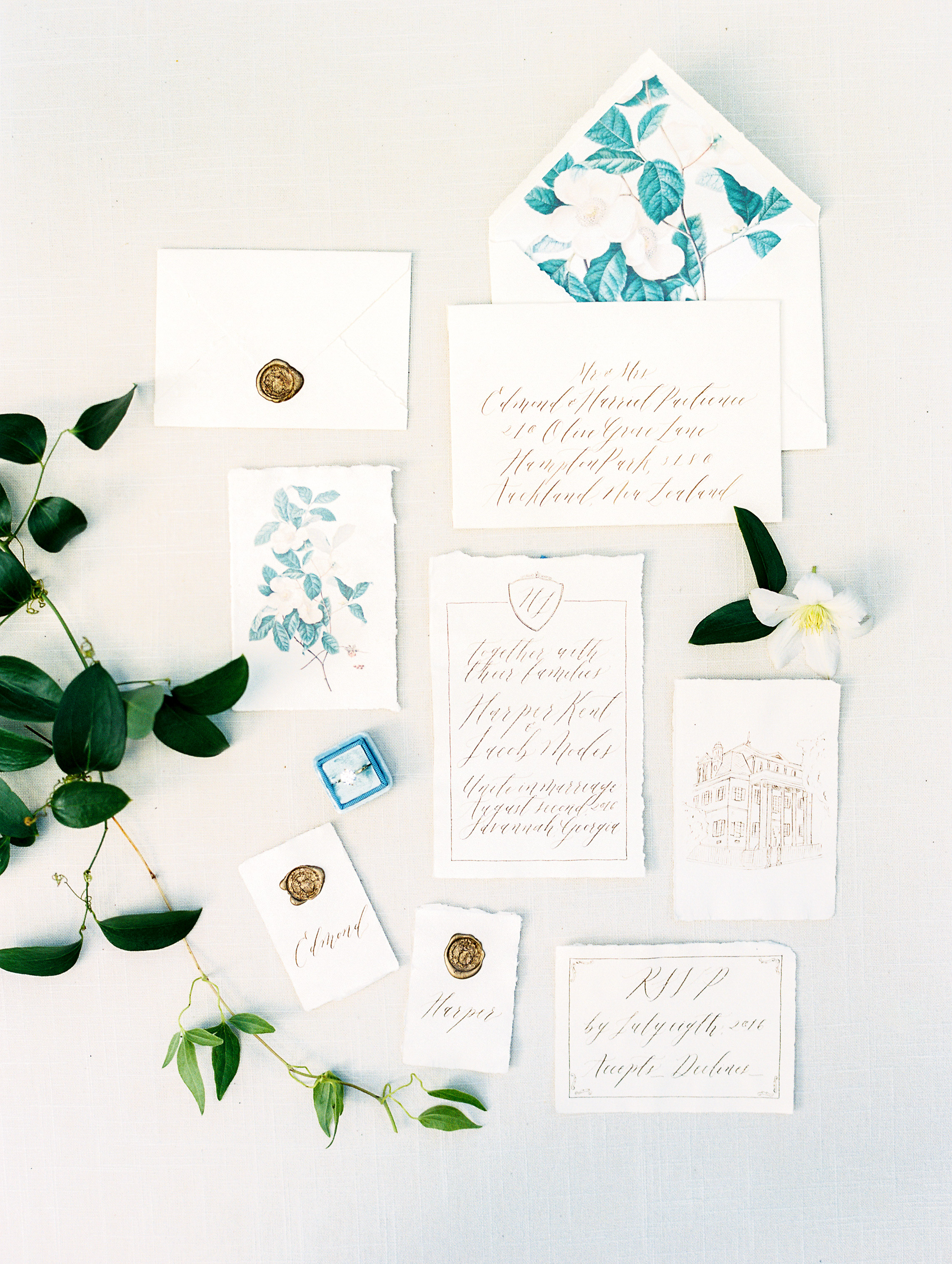 deckle edge invitations vitor lindo photography