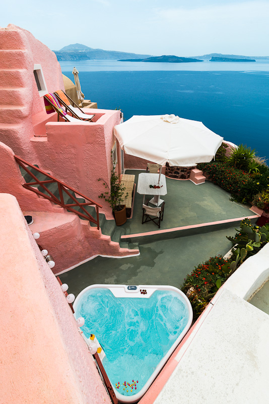 seaside view airbnb santorini greece