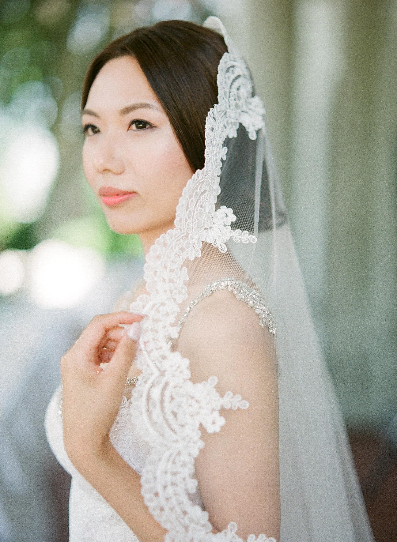 gloria zee wedding bride close up veil
