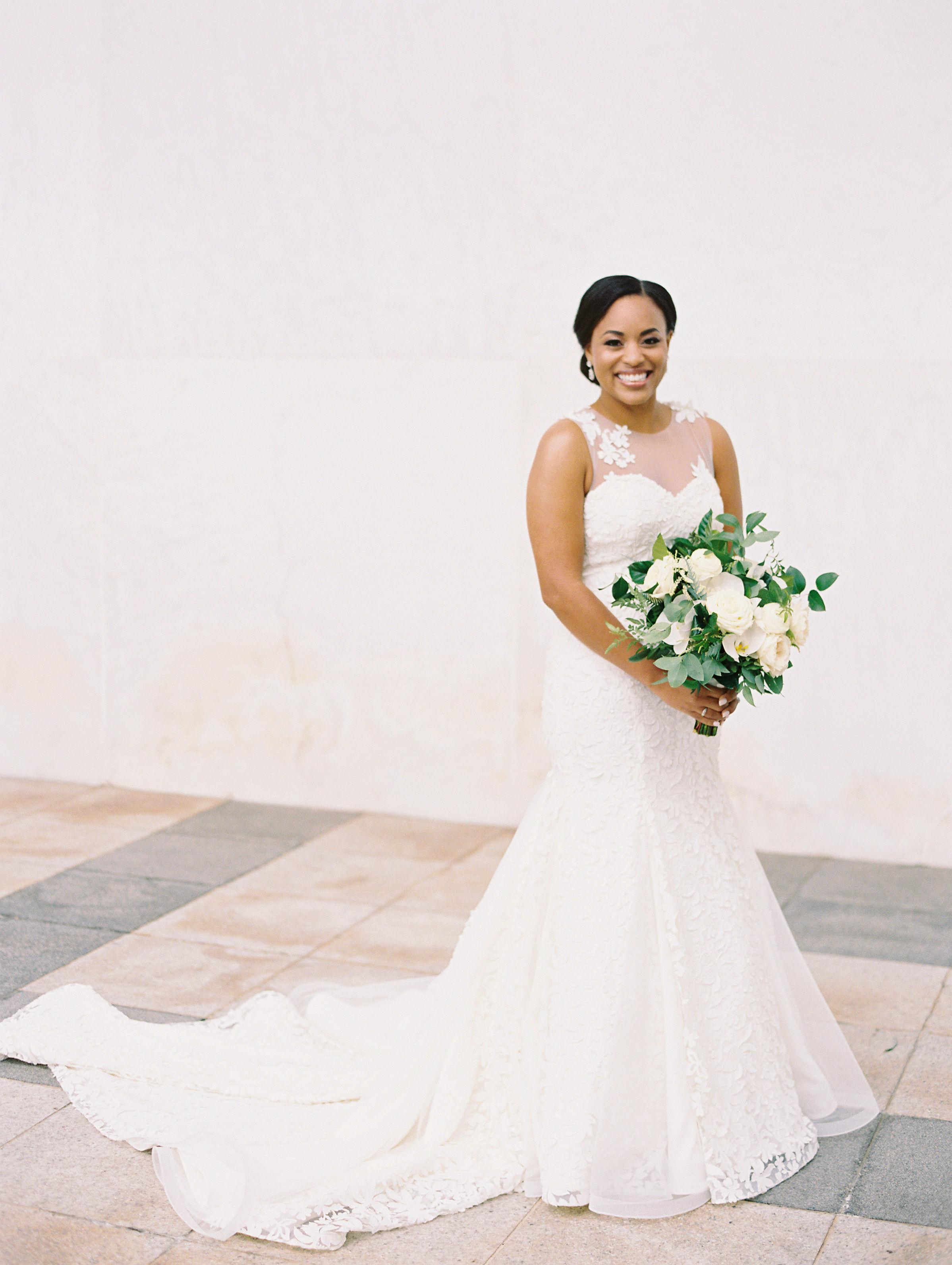 melissa justen wedding bouquet white