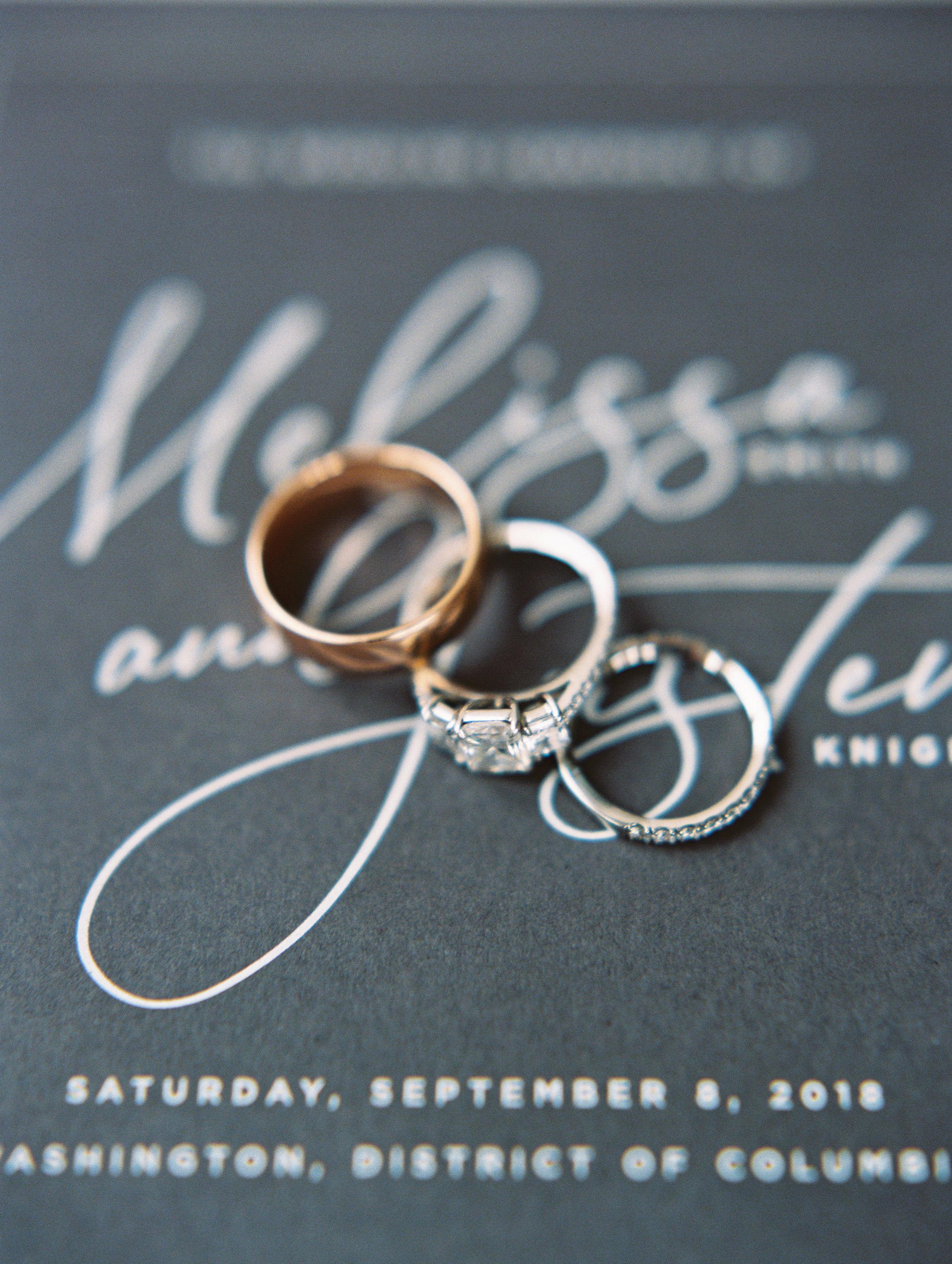 melissa justen wedding rings on programs