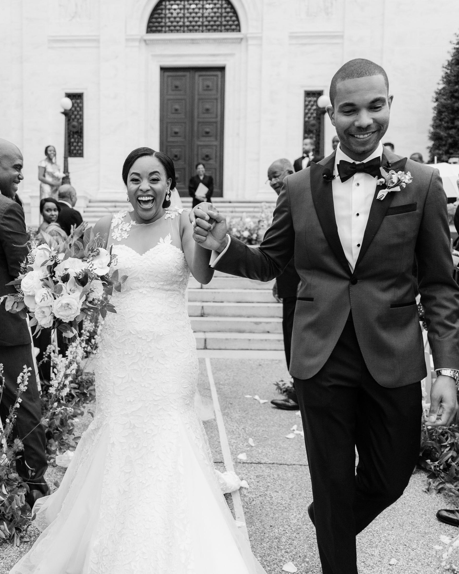 melissa justen wedding bride and groom recessional