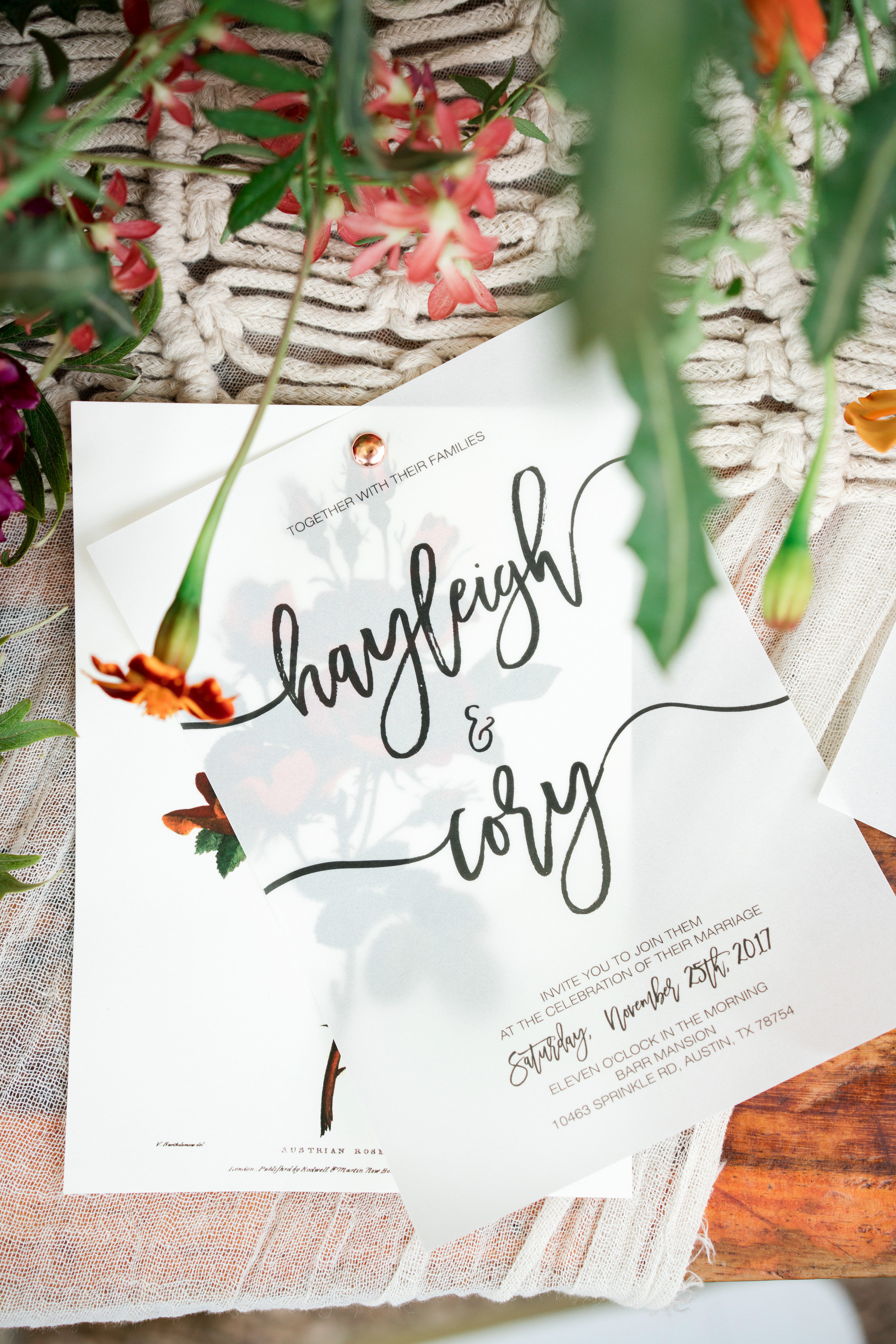 hayleigh corey wedding invitations