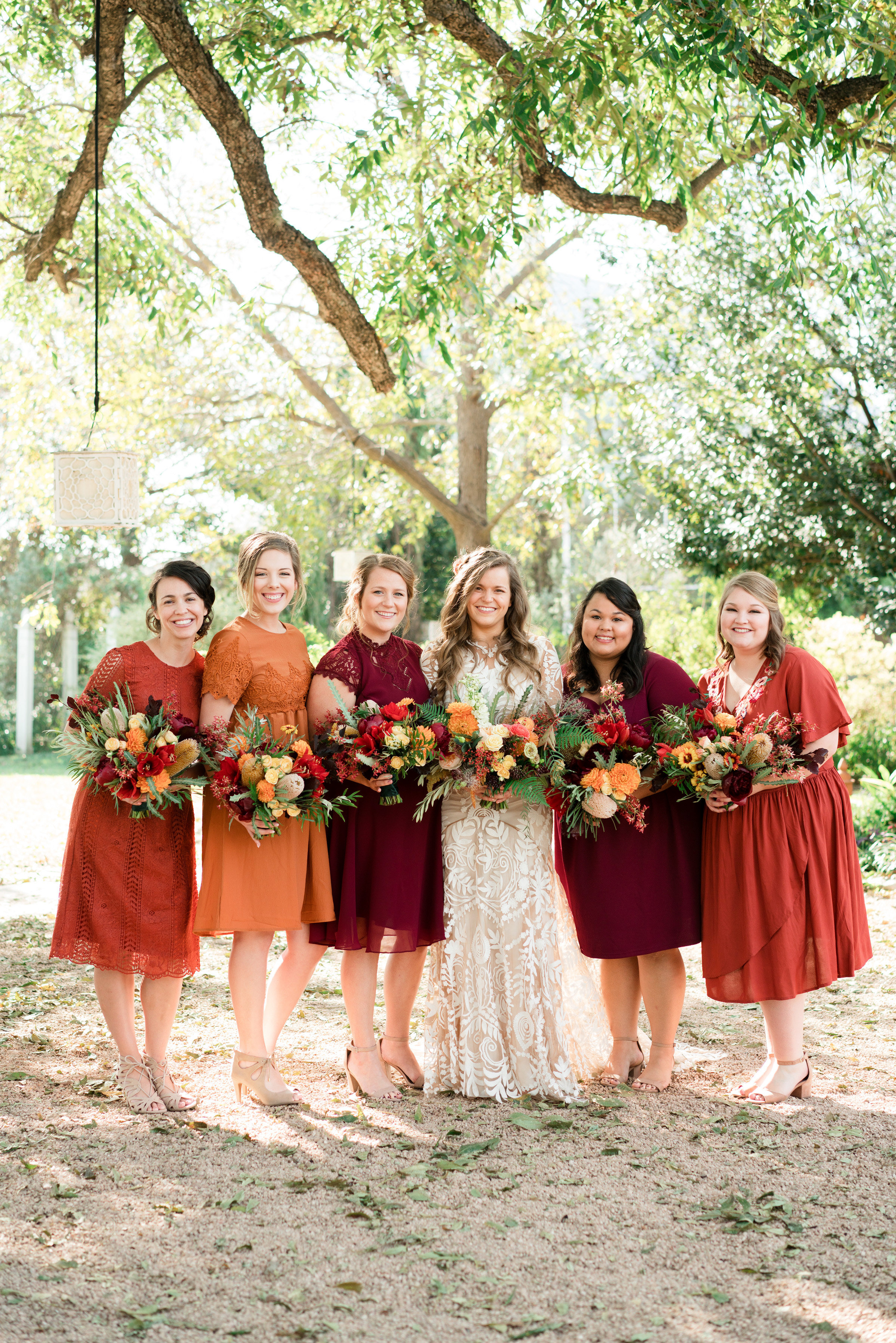 hayleigh corey wedding bridesmaids and bride