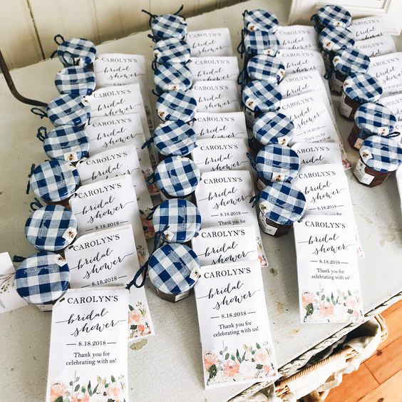 bridal shower favors honey jars breakfast tea packets