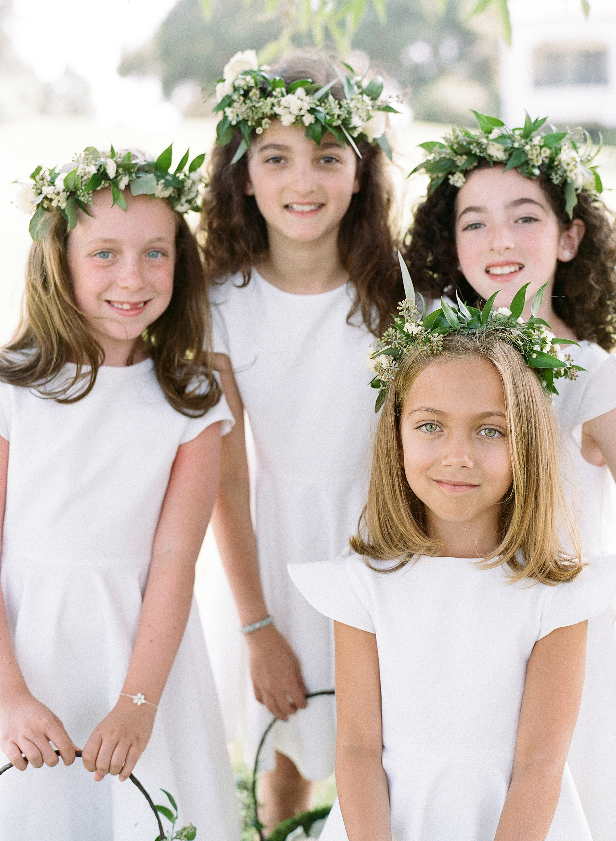 ashlie adam alpert wedding flower girls