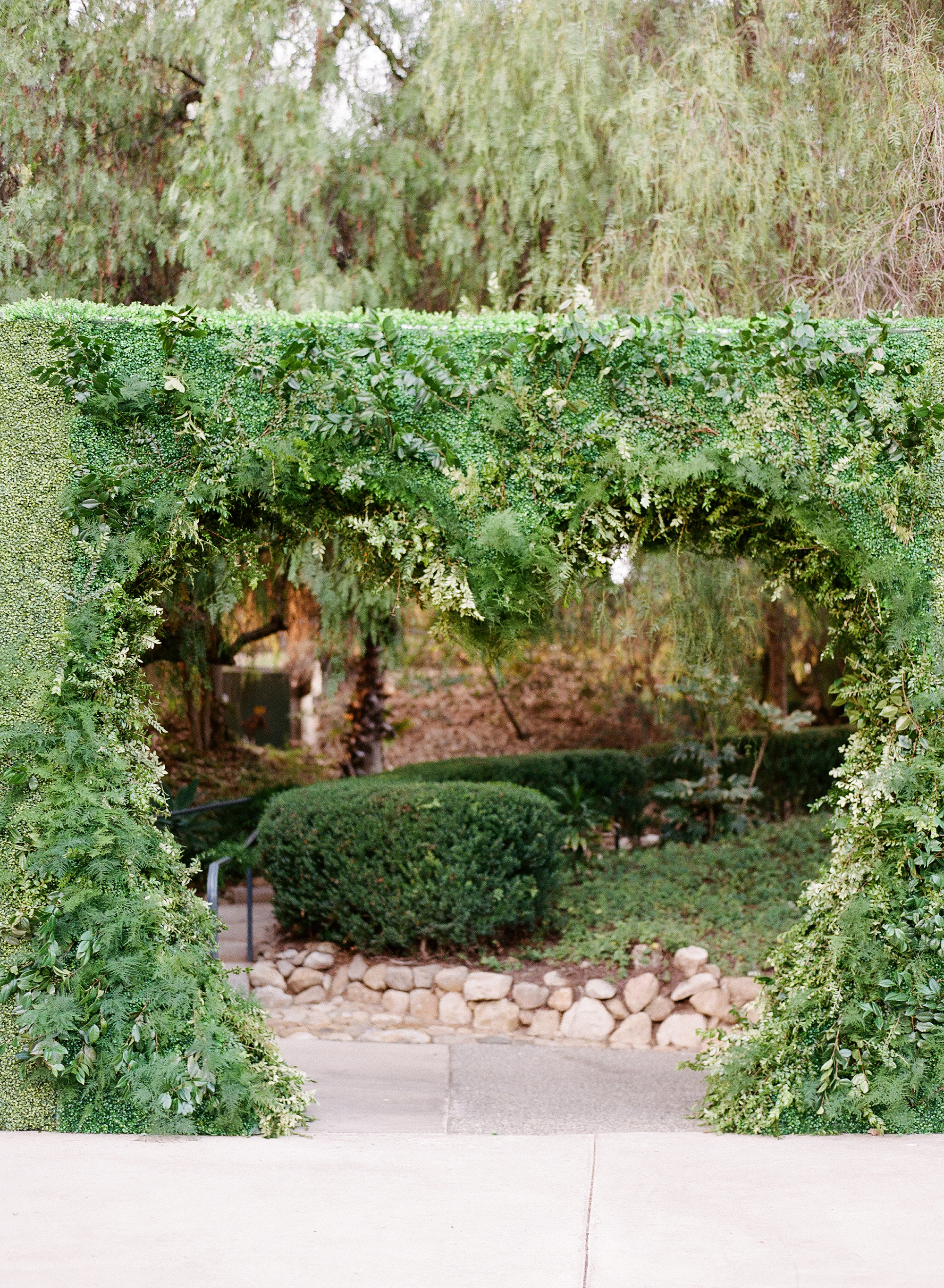 ashlie adam alpert wedding entrance heart bush