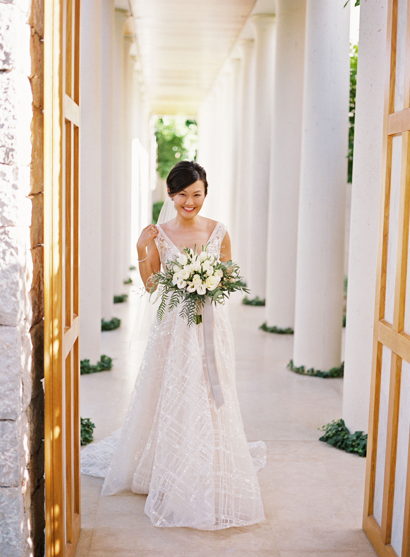 sze amanzoe wedding bride greece elegant