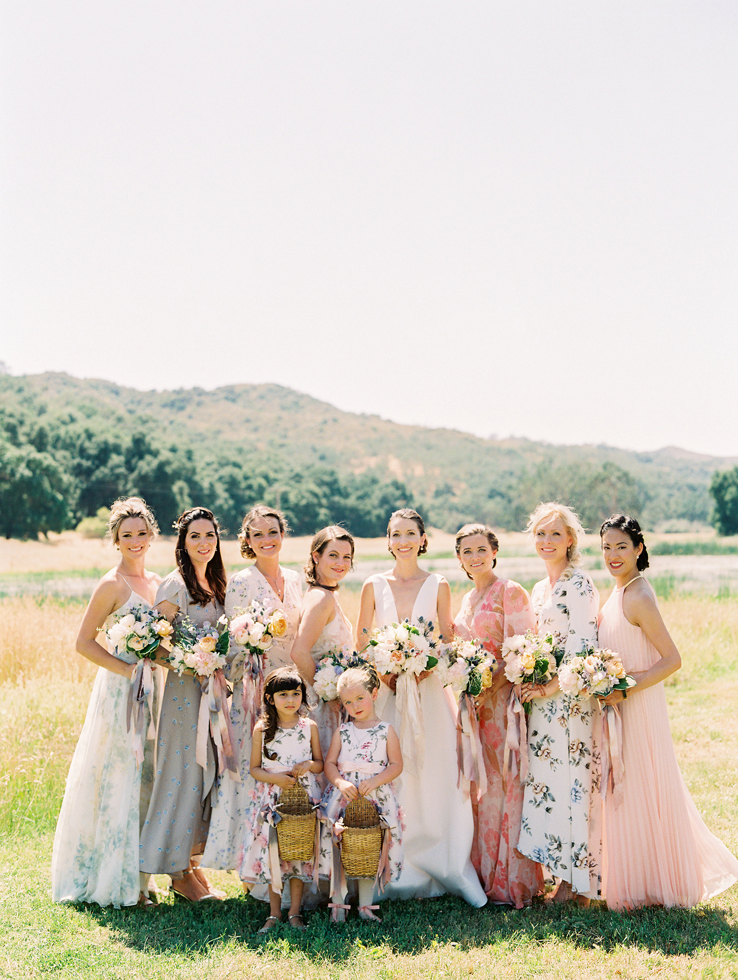Patterned Bridesmaids' Dresses