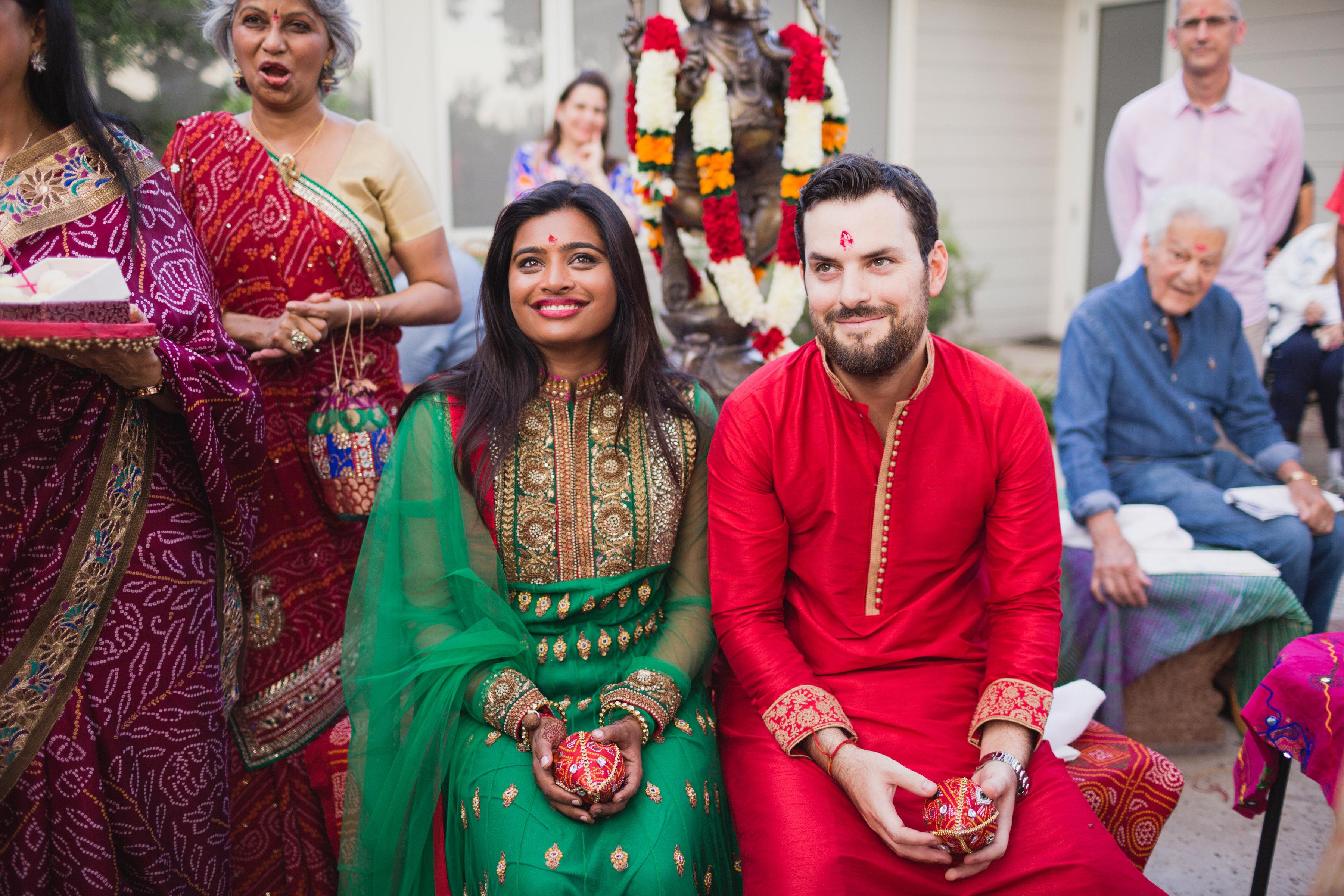 california indian jewish wedding mandva and pithi ceremony