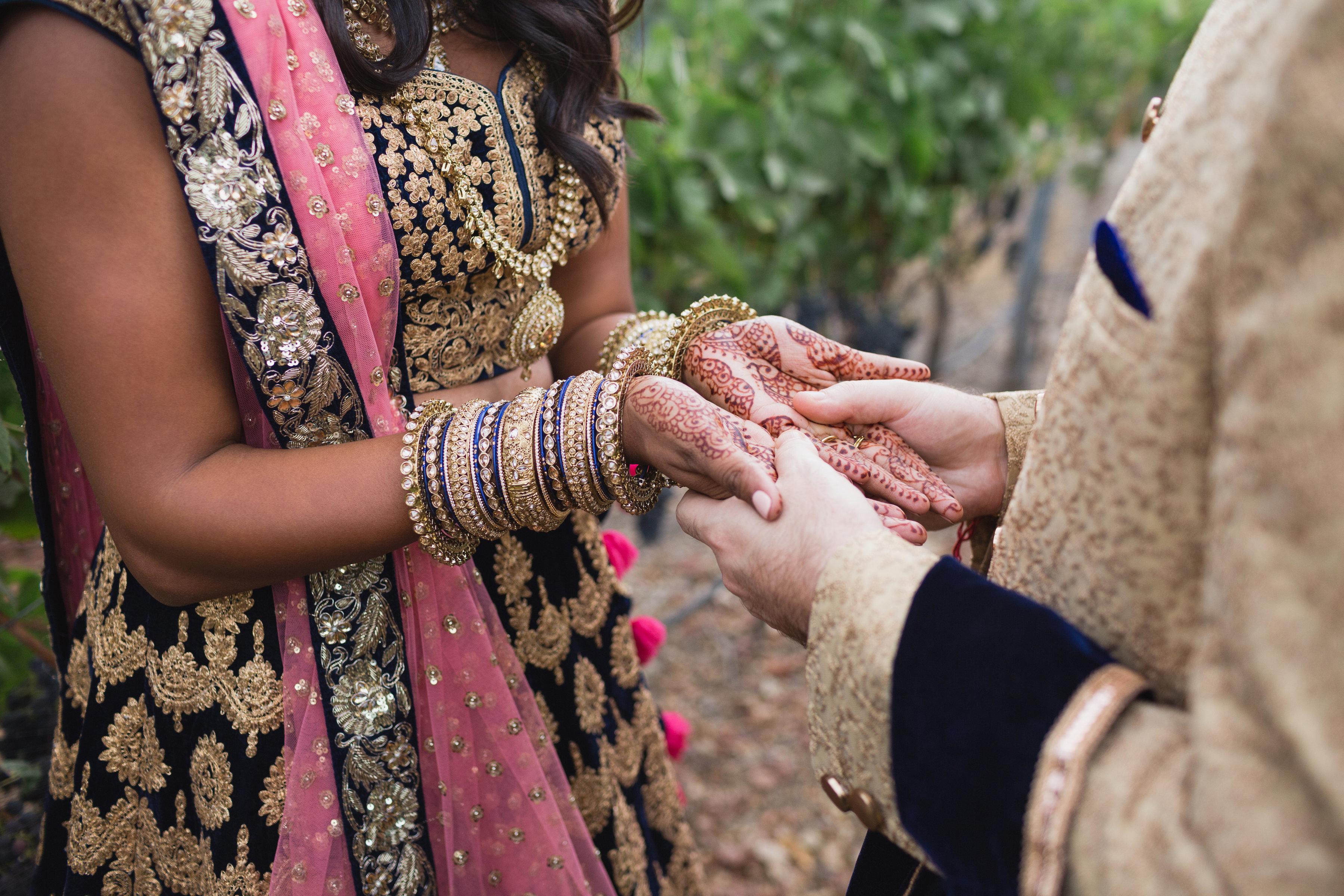 california indian jewish wedding bridal henna