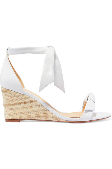 wedding wedges with white bow