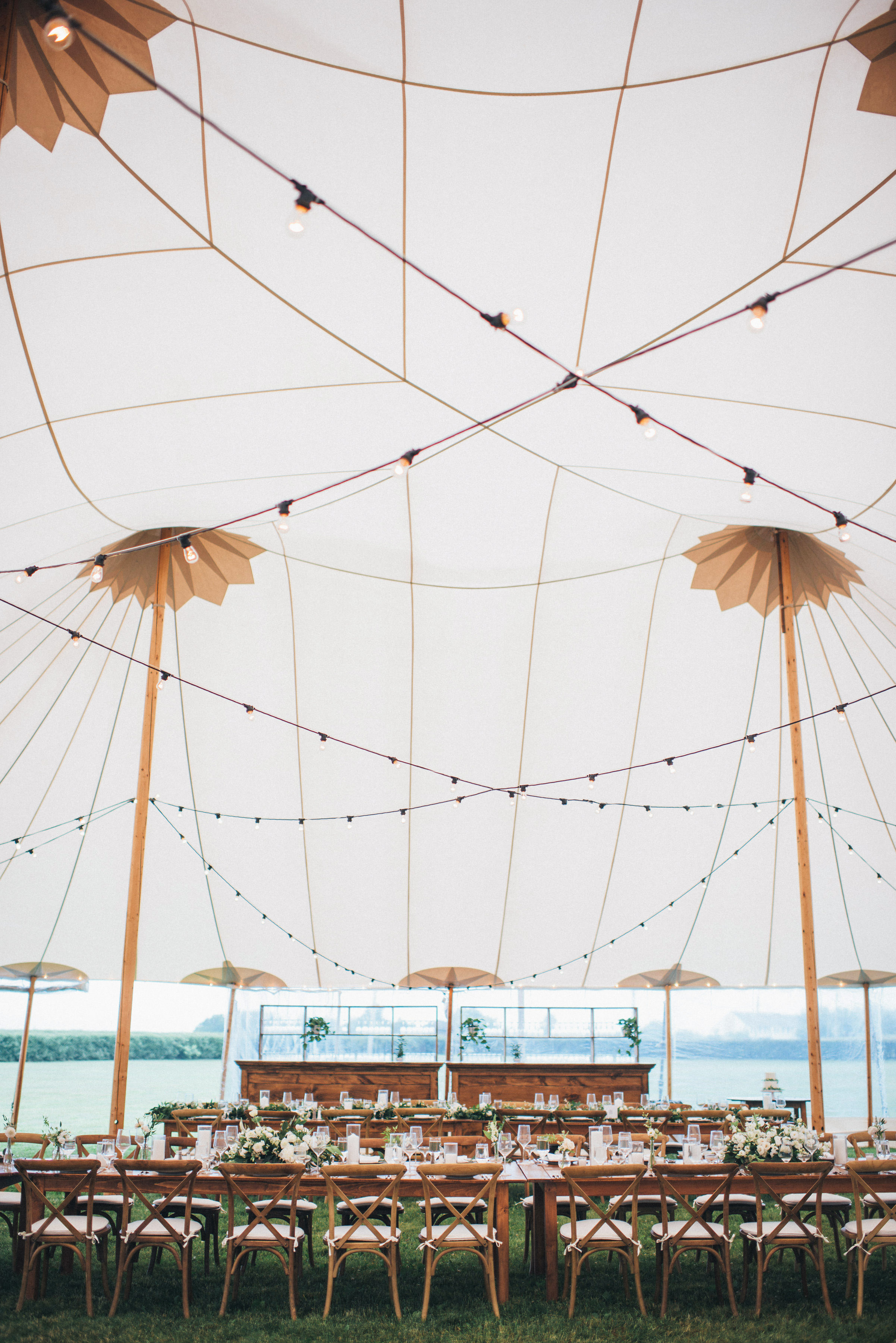 reception table lineup lighted tent