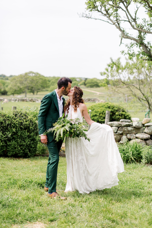 molly ed wedding couple bride groom kissing