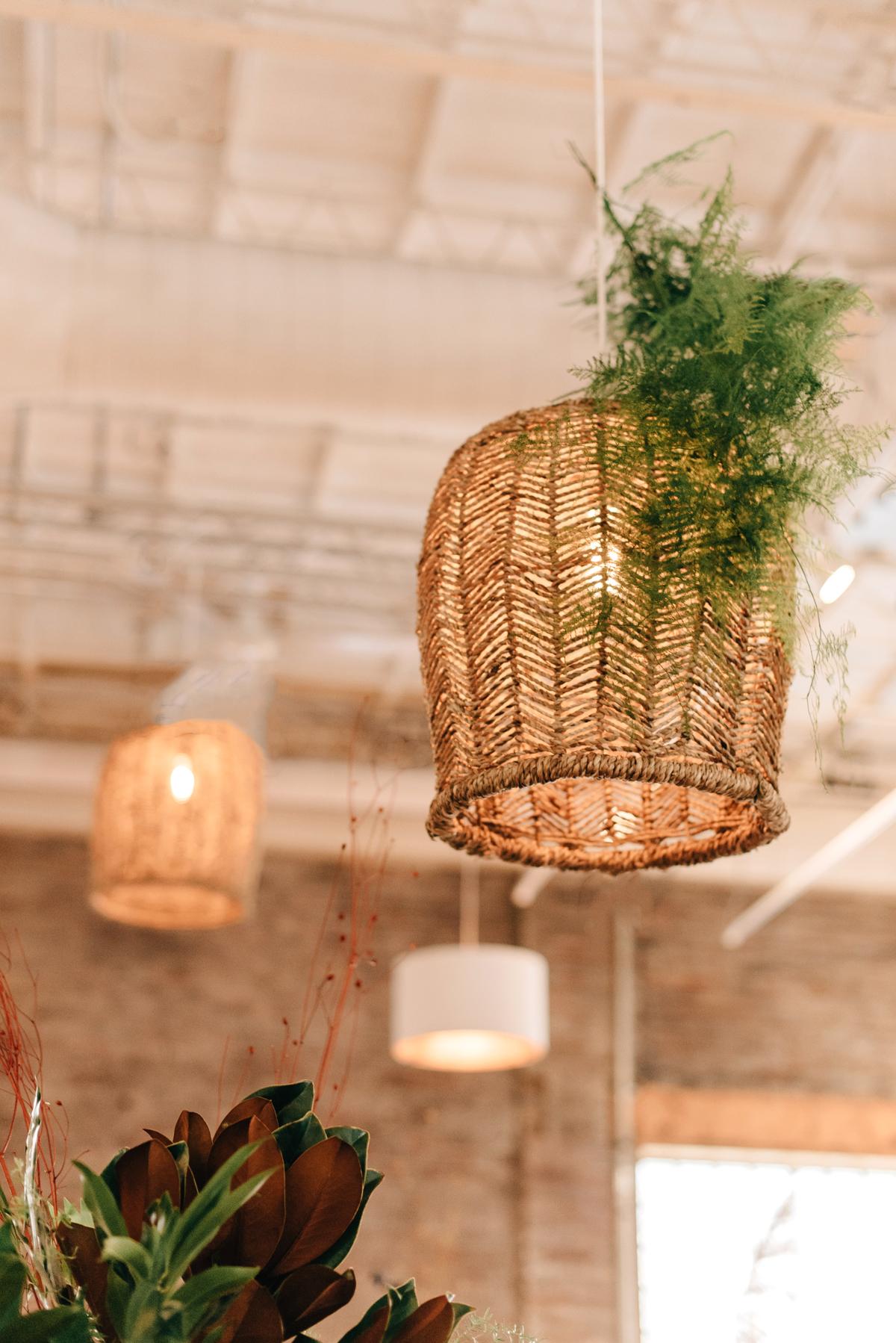 woven rattan wedding decor lighting fixtures