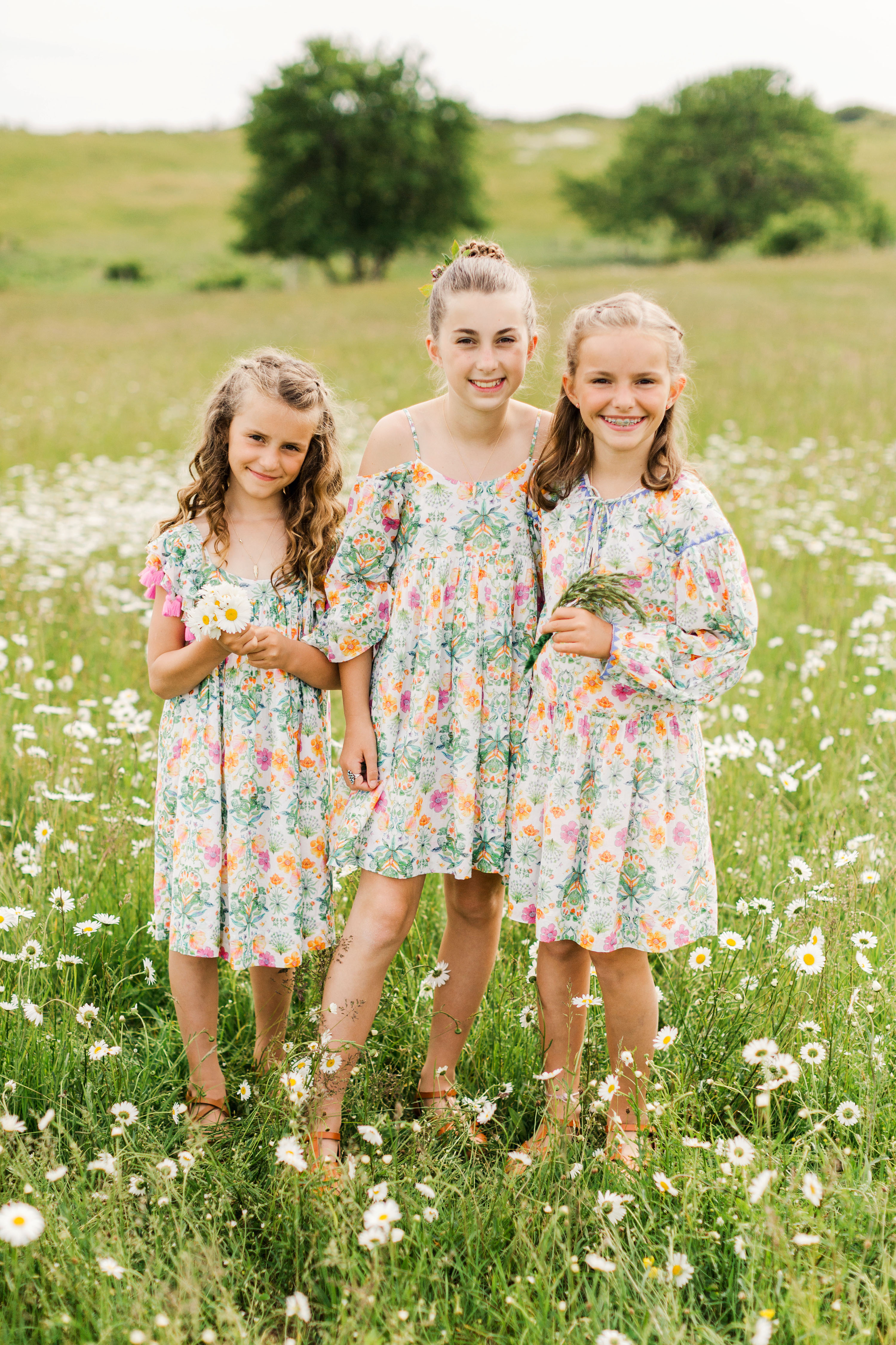 molly ed wedding daughters of bride matching dresses