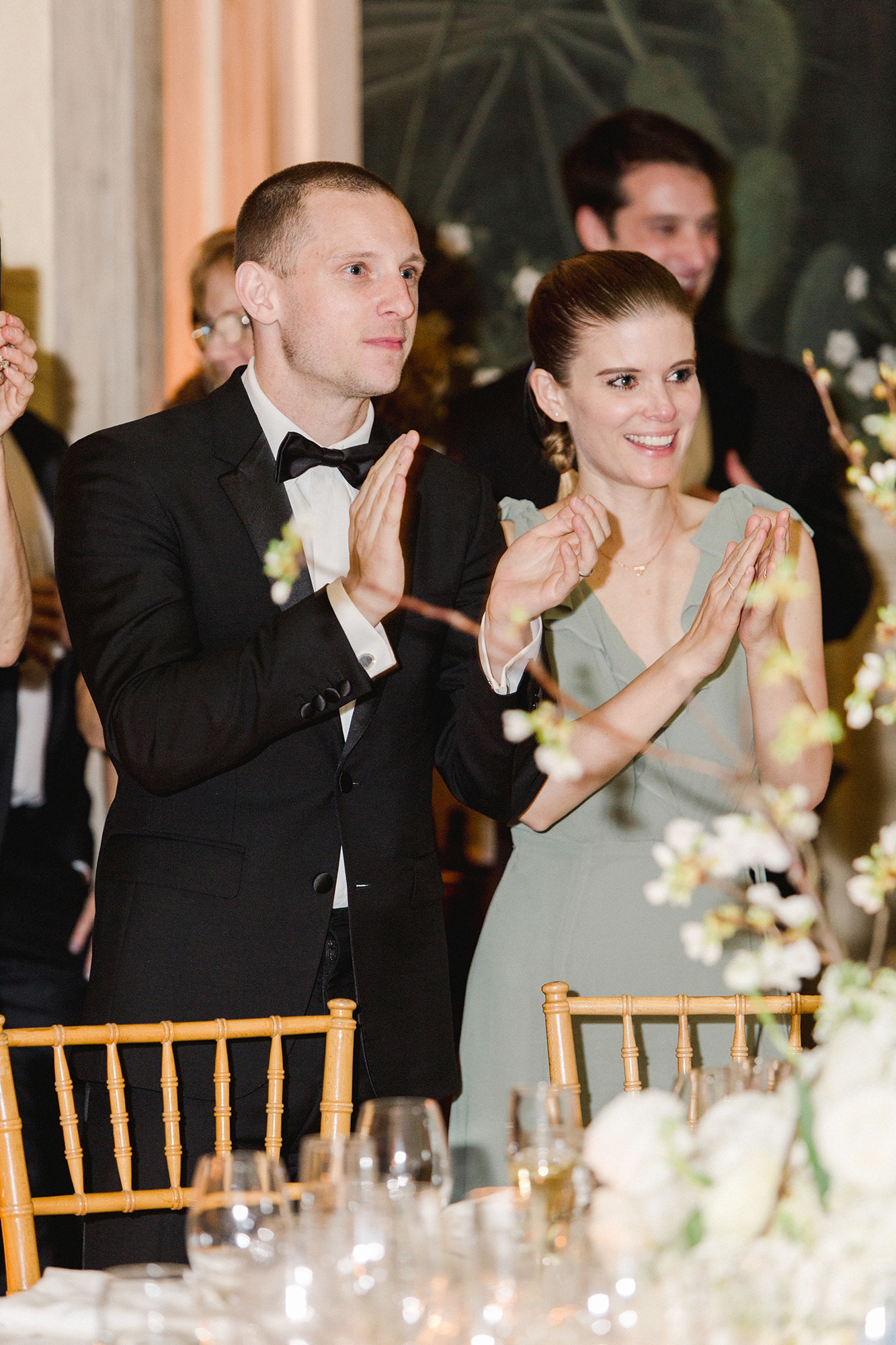 chelsea conor wedding guests applause