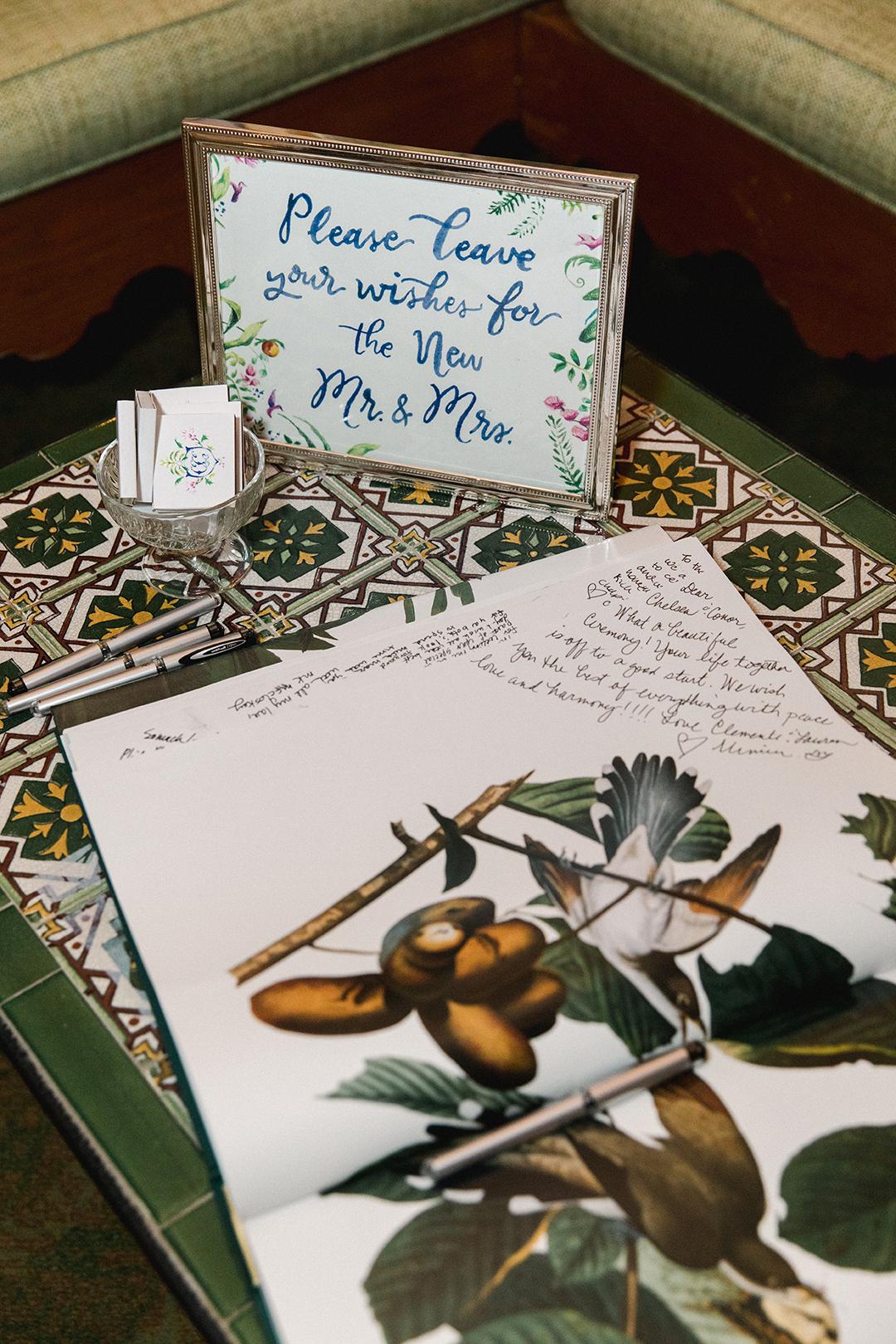 chelsea conor wedding guest book