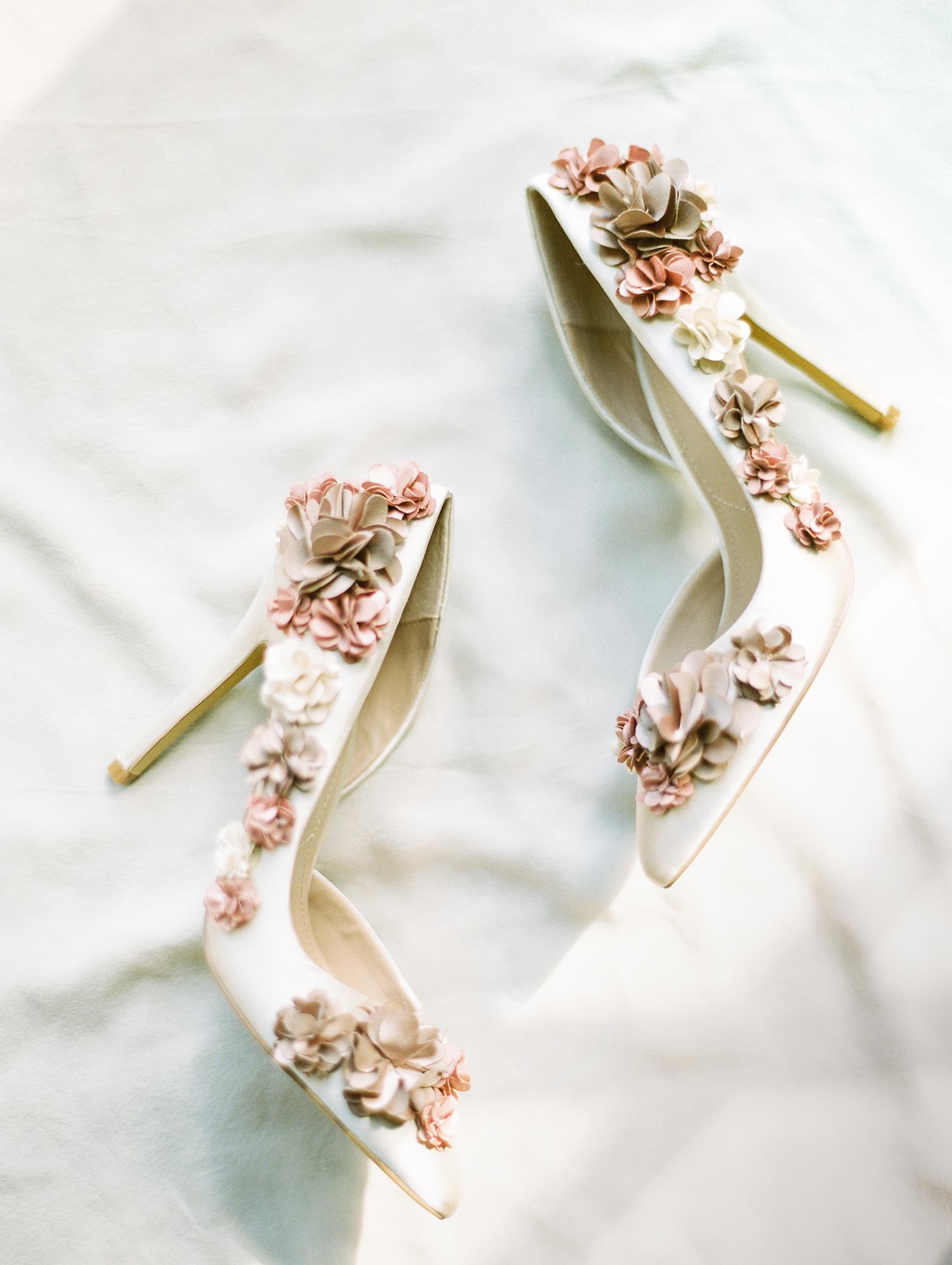 dawn rich wedding floral shoes
