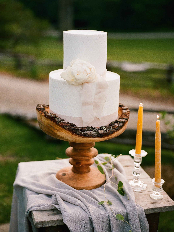 raw edge cake stand
