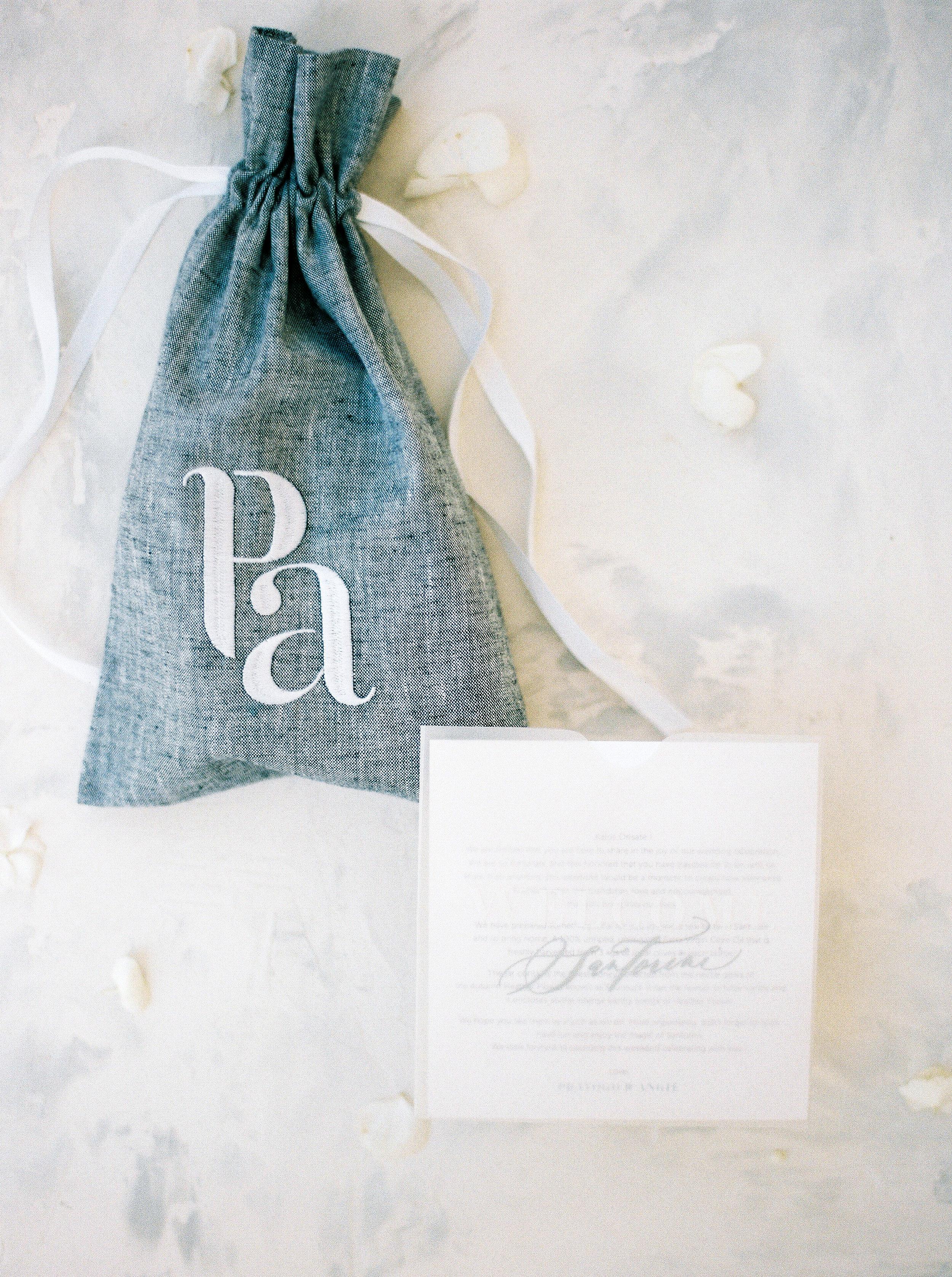 angie prayogo greece wedding favor bag