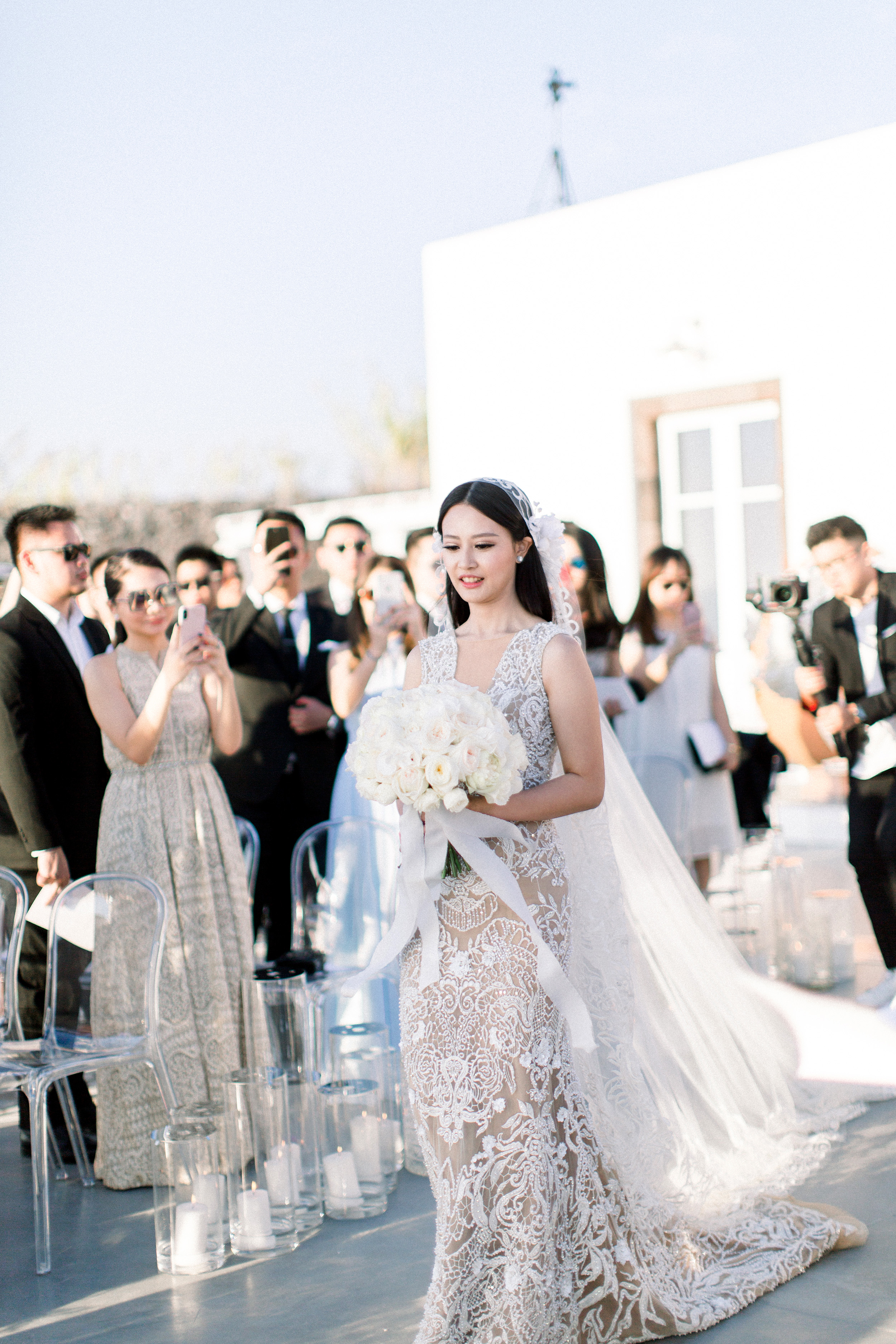 A Breathtaking Oceanside Wedding in Santorini | Martha