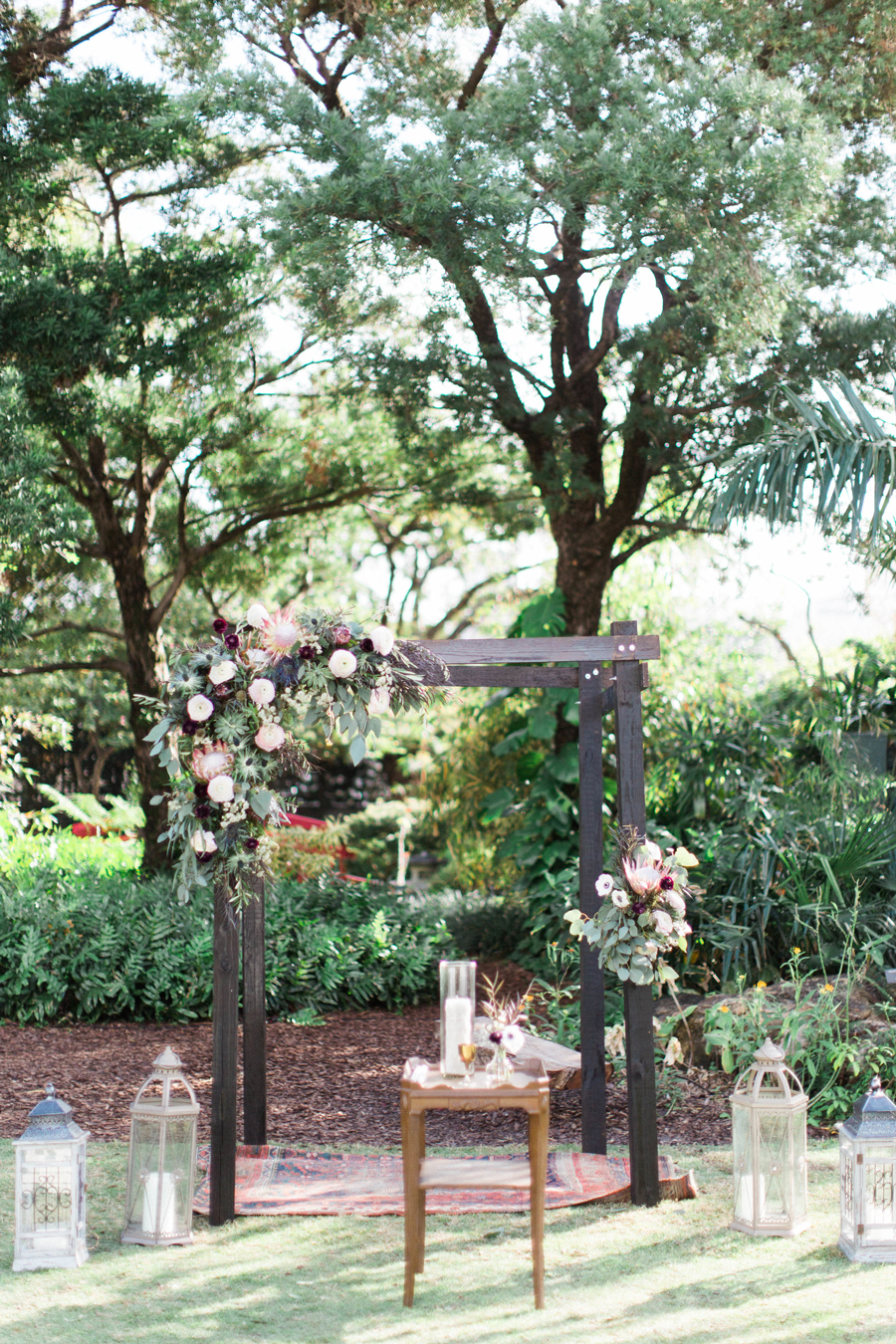 Miami Beach Botanical Garden ceremony setup