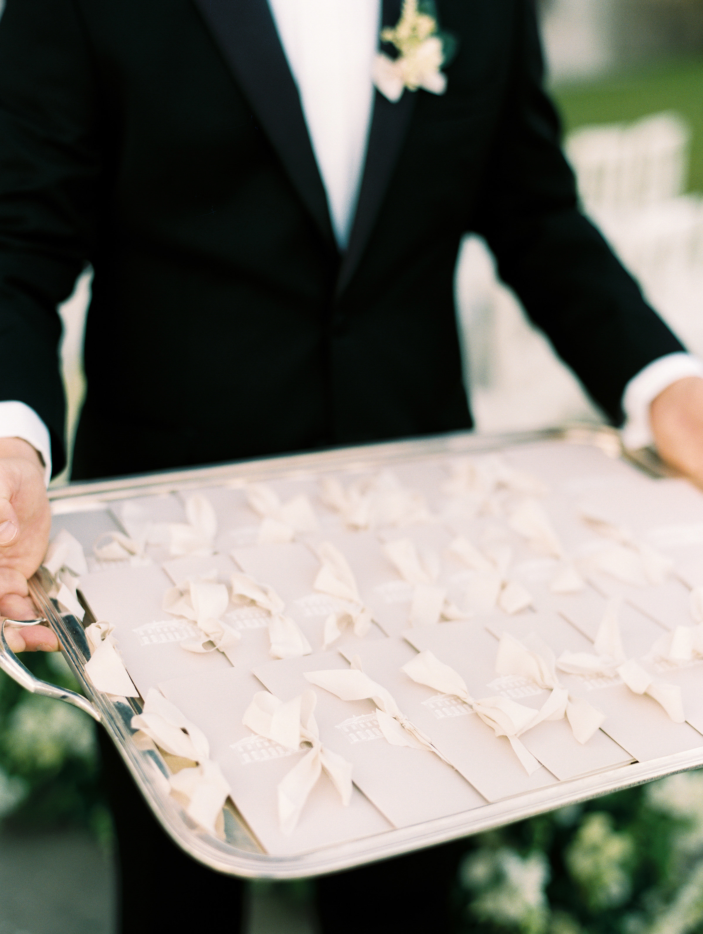 ramsey charles ireland wedding programs on tray