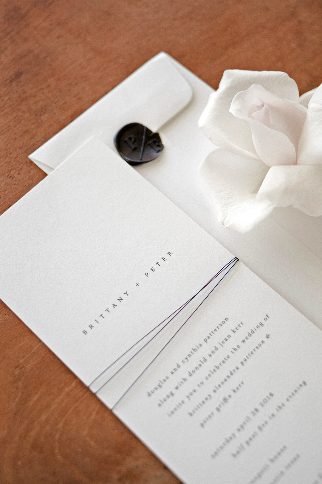 brittany peter wedding stationary