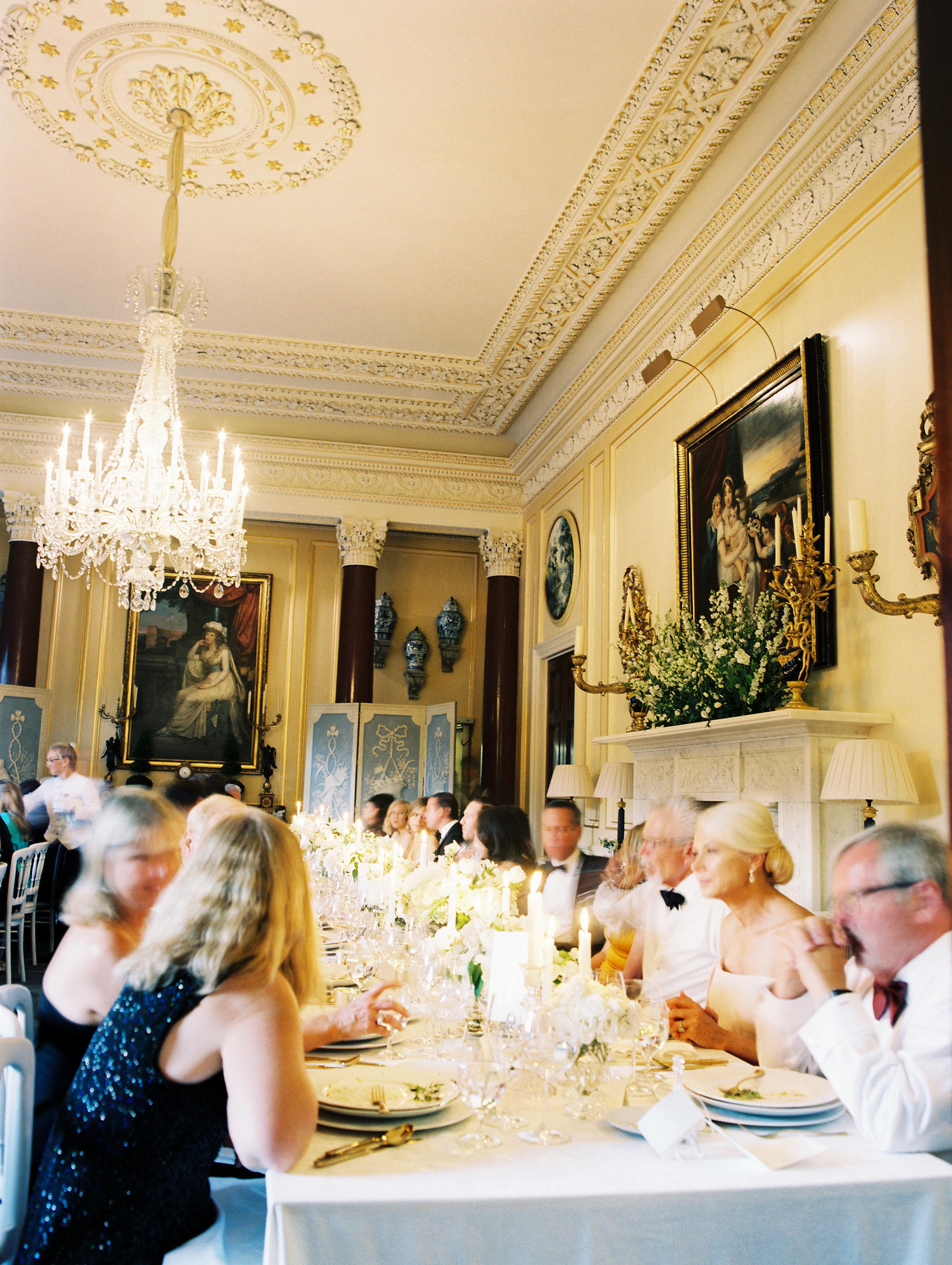 ramsey charles ireland wedding reception guests at tables