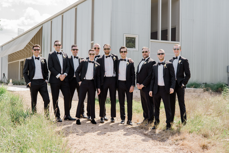 brittany peter wedding groomsmen