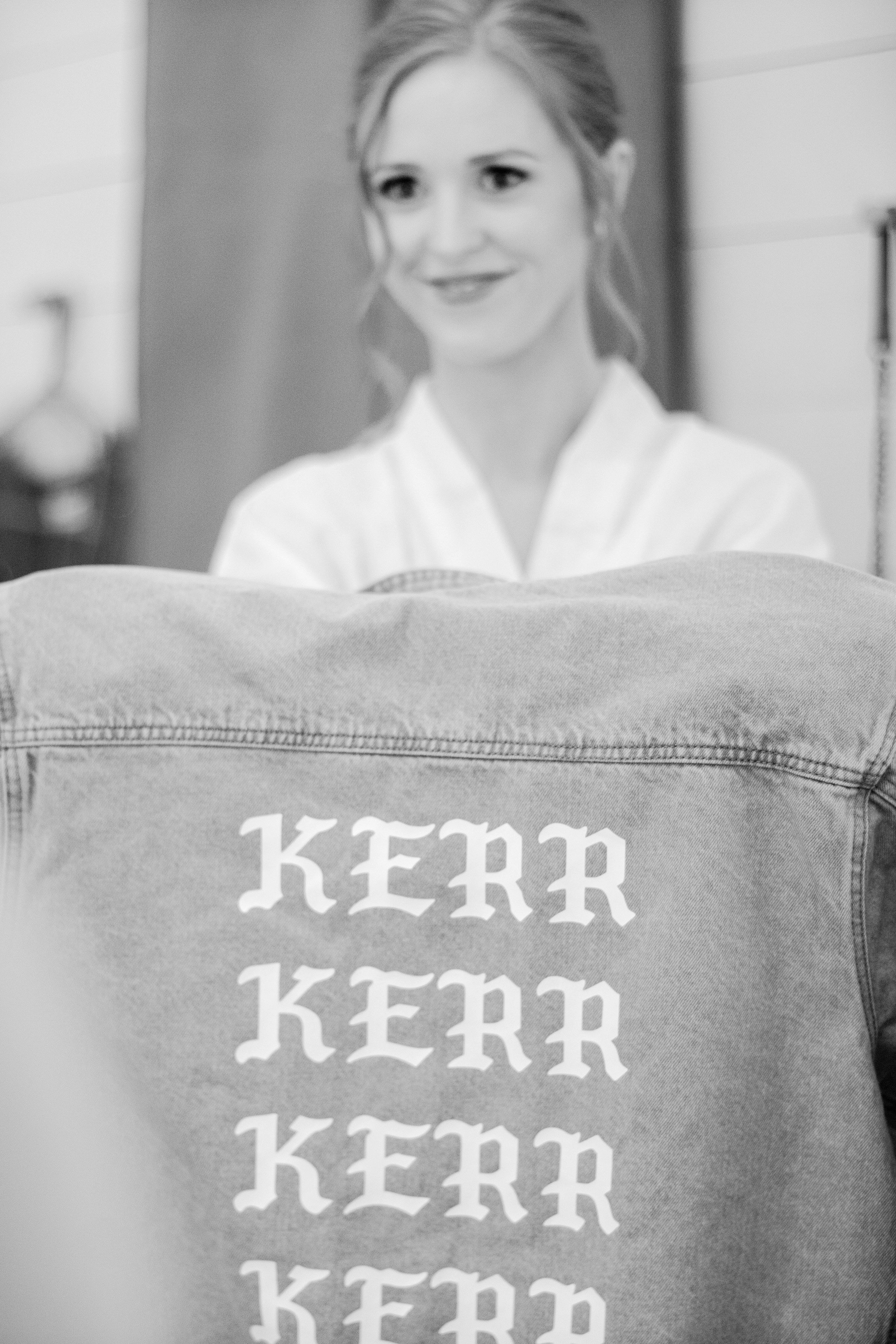 brittany peter wedding jean jacket