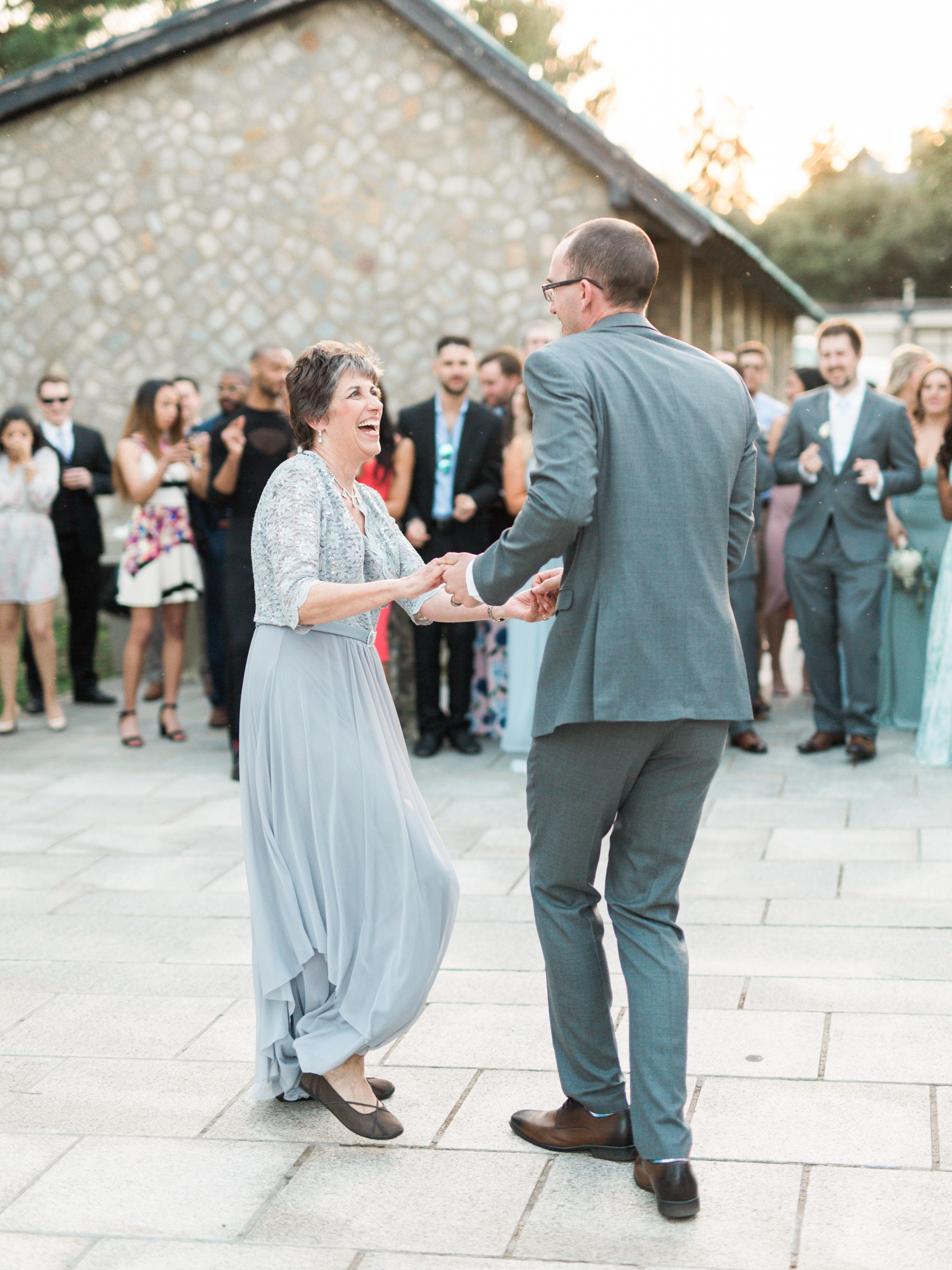 wedding reception groom mother dance