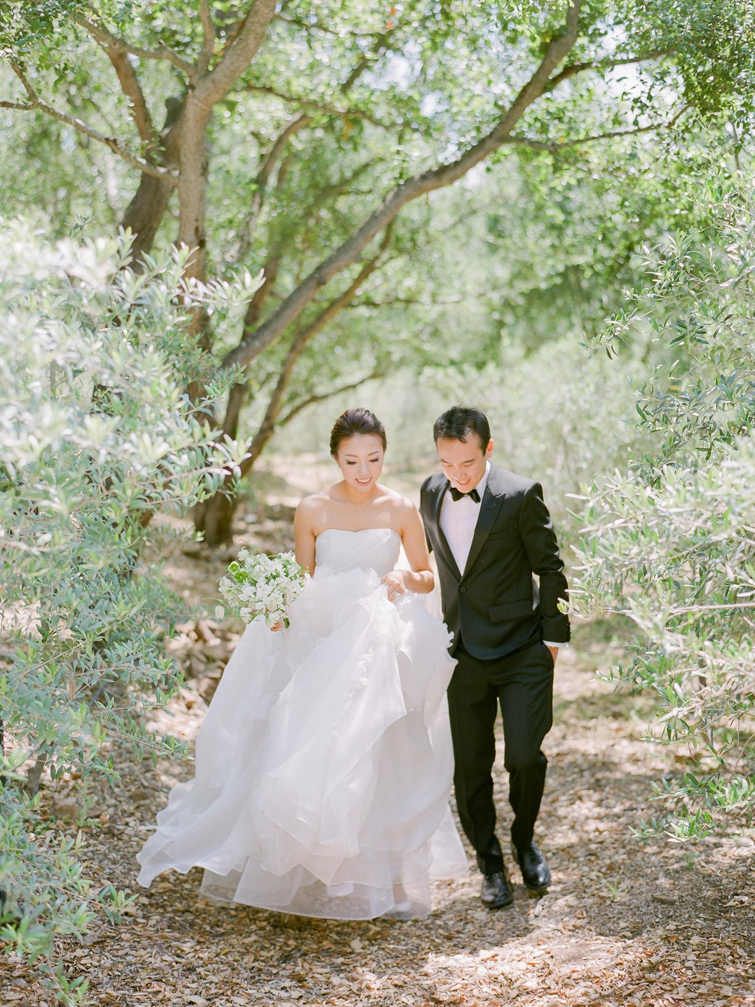 grace ceron wedding couple walking