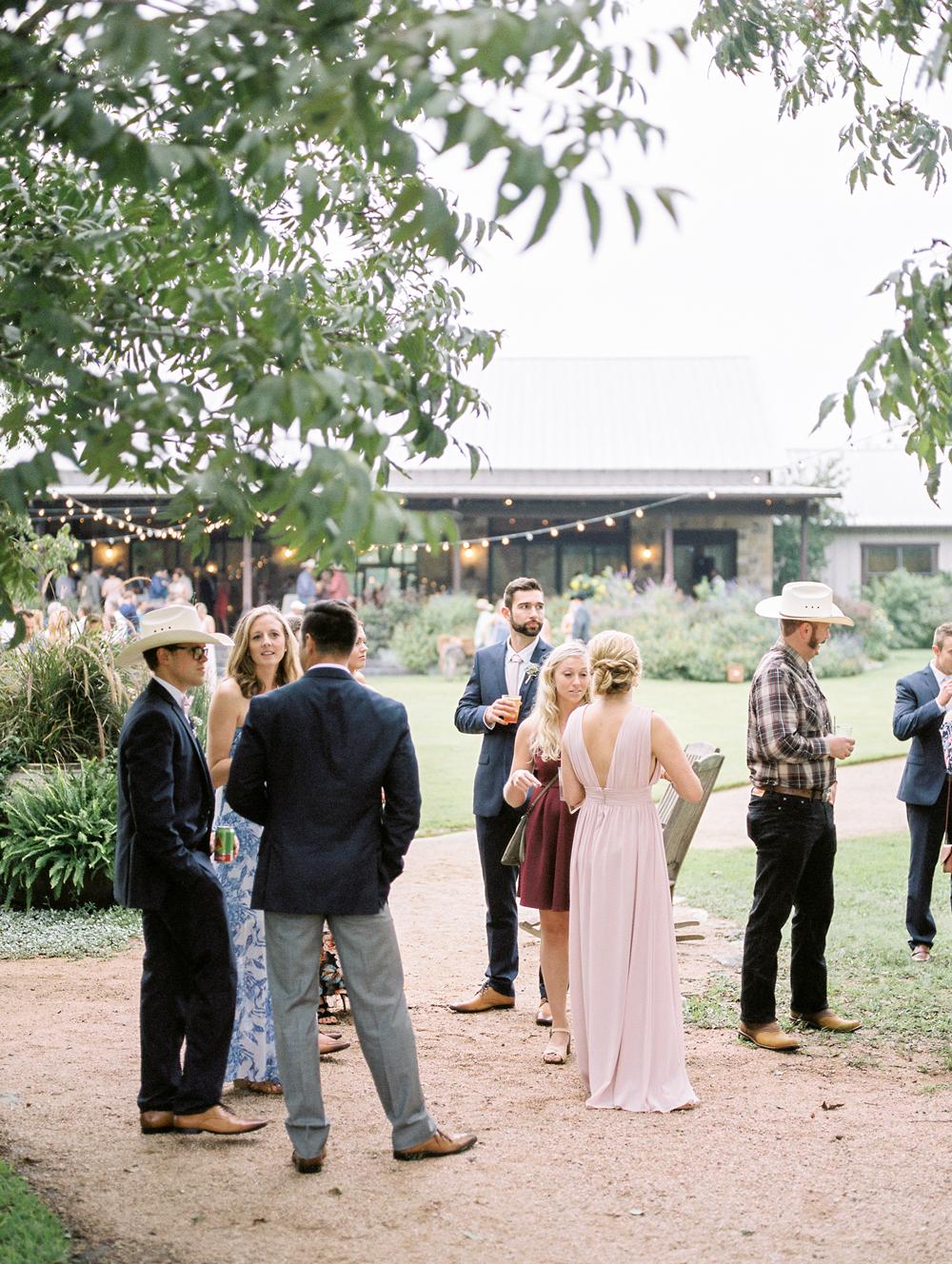 guests wearing spring wedding attire