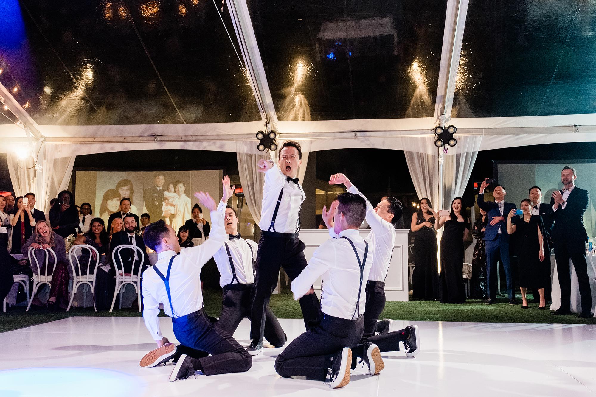 grace ceron wedding dance groom groomsmen