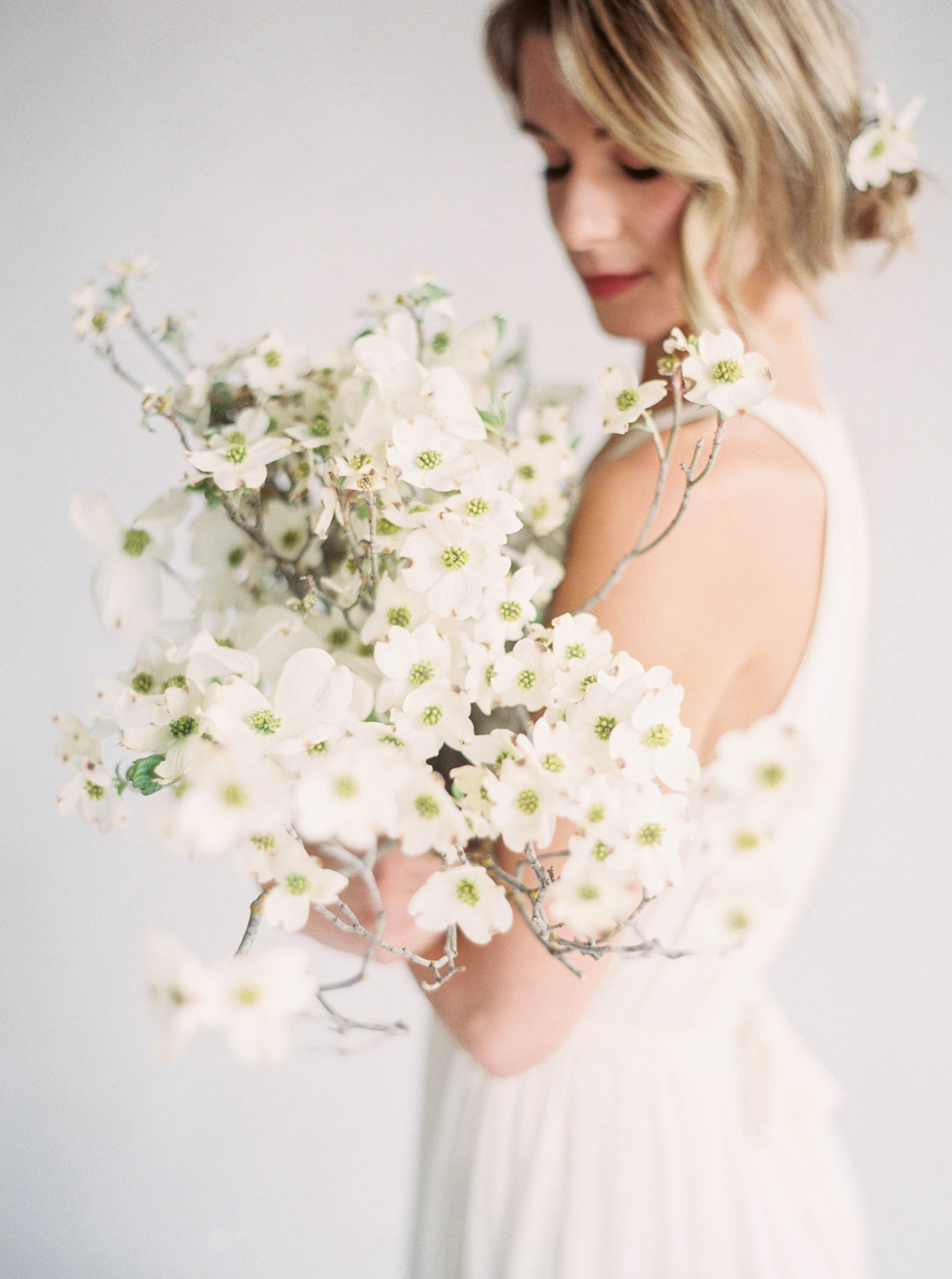 A Floral Trend We're Loving: Dogwood Wedding Bouquets