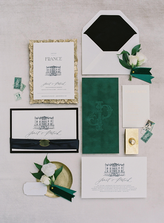 janet patrick wedding stationary