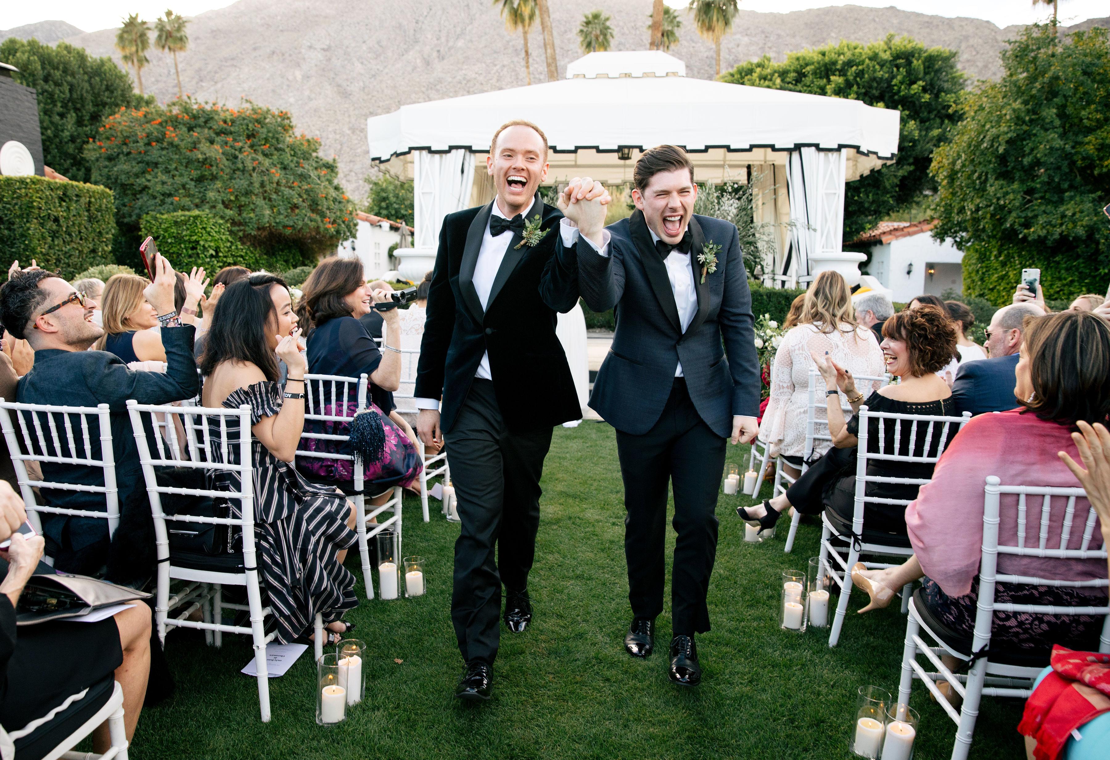 michael thomas wedding grooms couple recessional