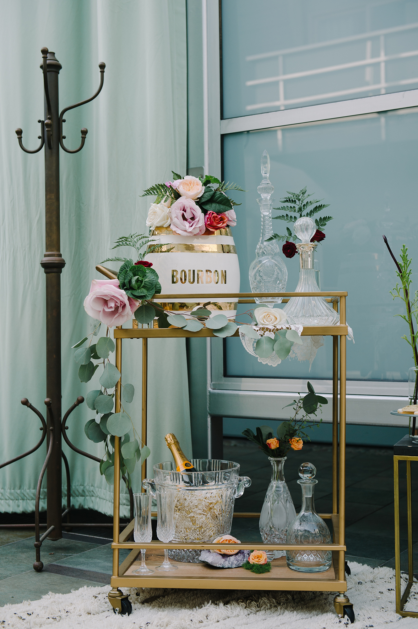 20 Bar Carts That'll Transform Your Wedding's Cocktail Hour and Reception
