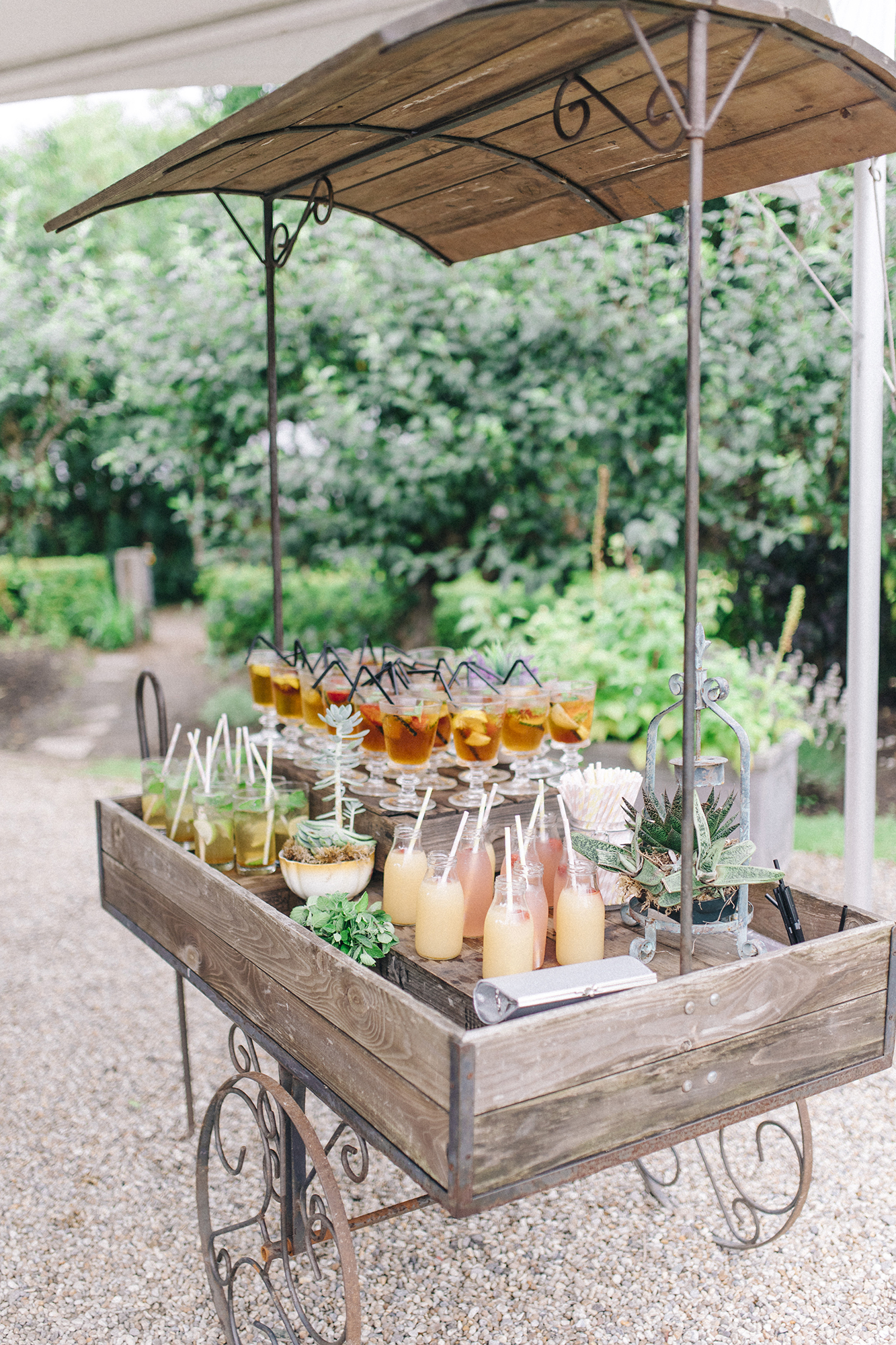 wedding bar cart farm wagon