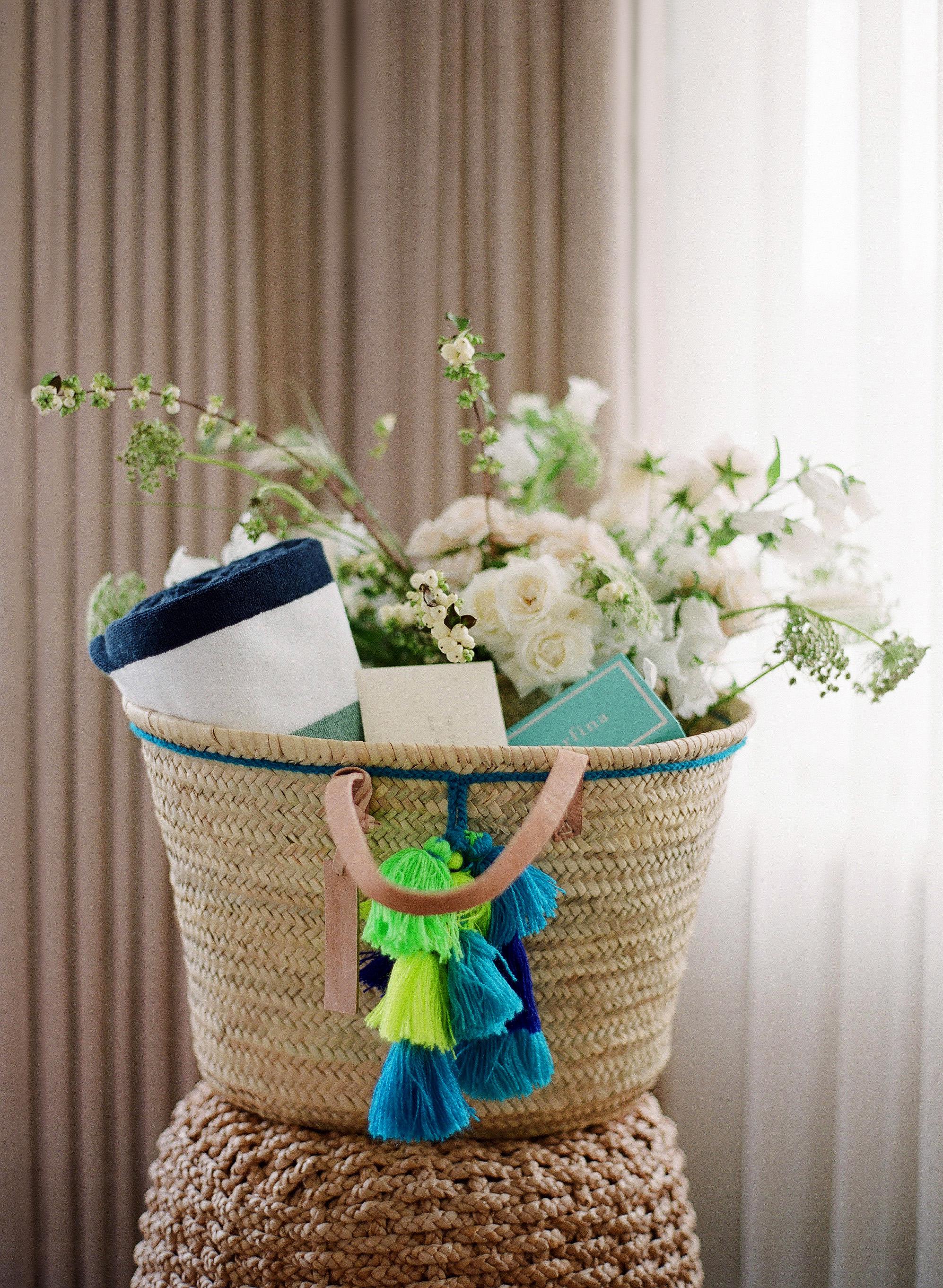 alex drew california wedding welcome basket