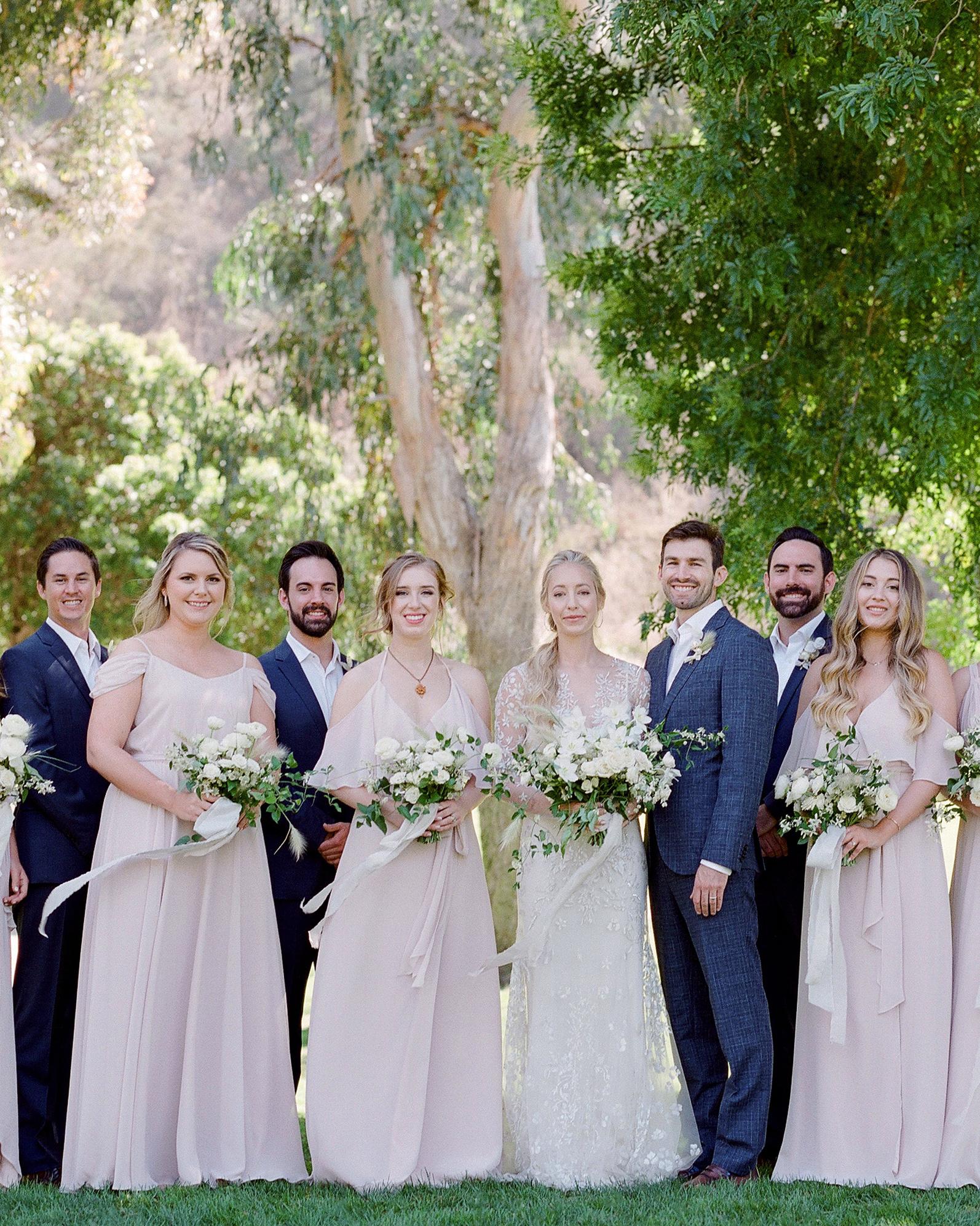 alex drew california wedding party and couple