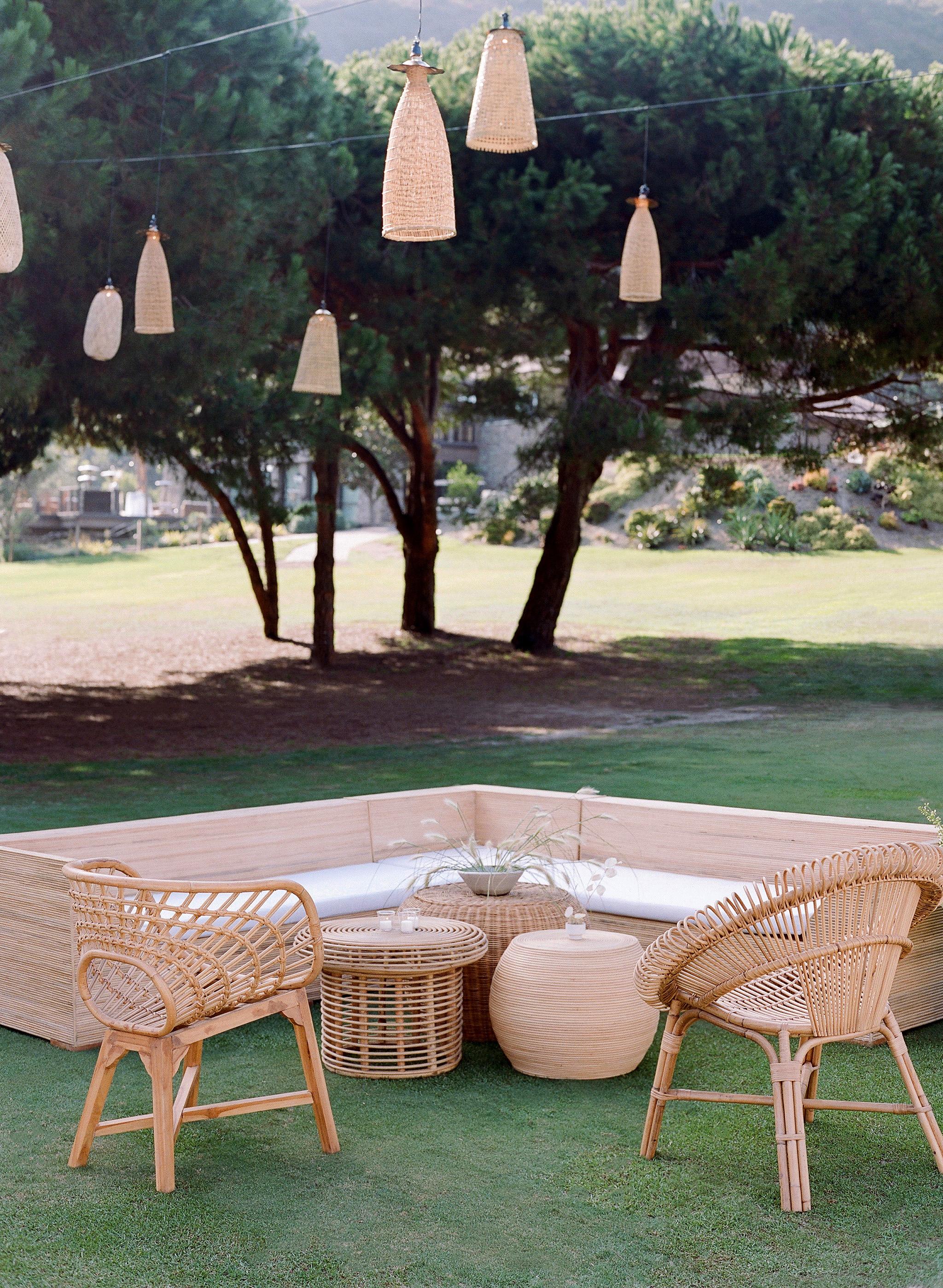 alex drew california wedding outdoor lounge